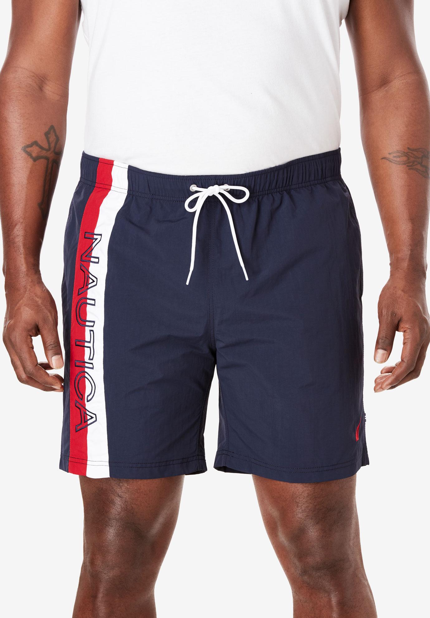 c1d4d11896 Nautica® Quick Dry Print Swim Shorts| Big and Tall Pants & Shorts ...