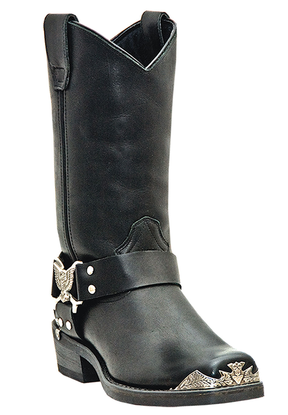 "Dingo 12"" Leather Eagle Harness Strap Boots,"