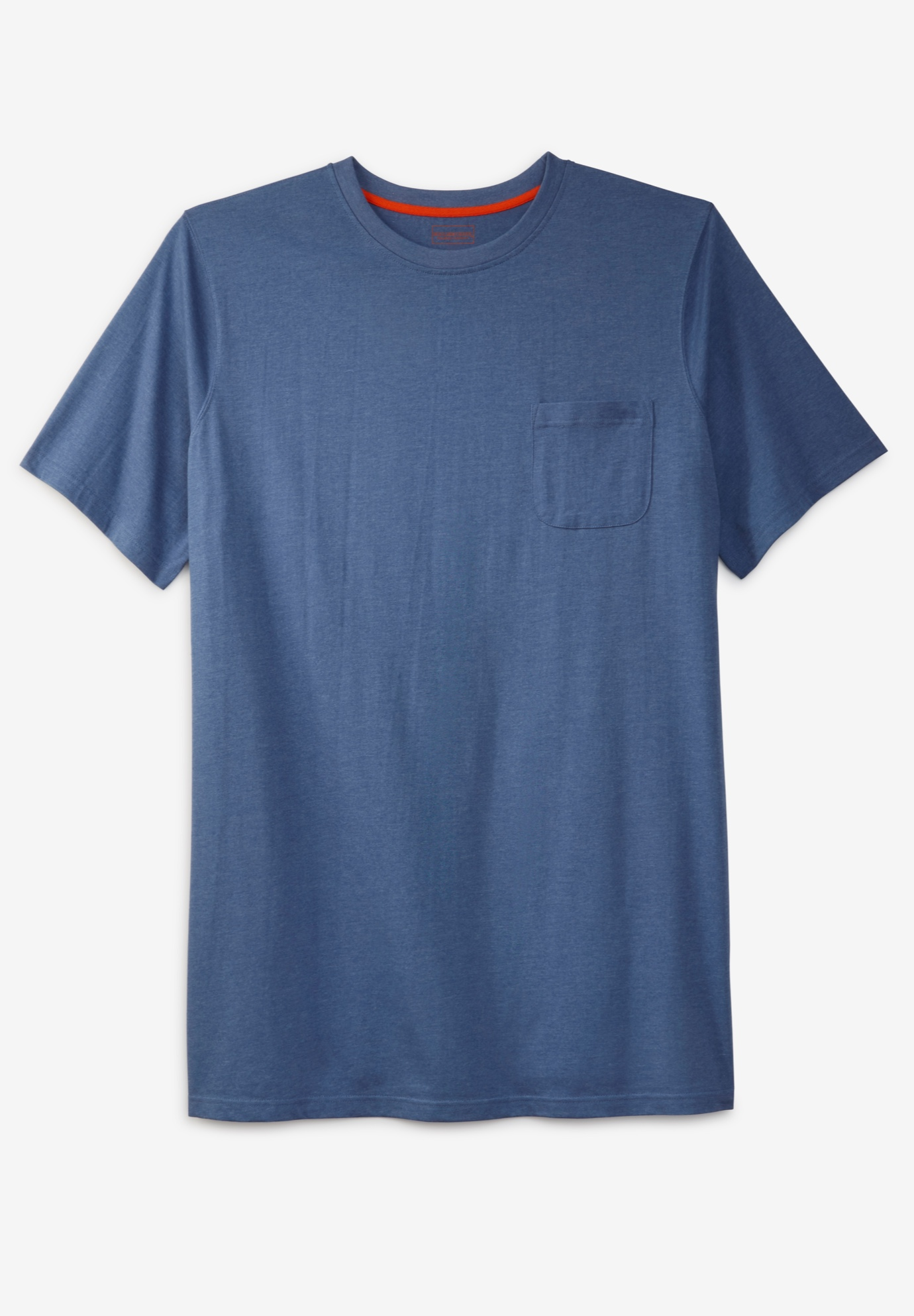 Boulder Creek® Heavyweight Longer-Length Pocket Crewneck T-Shirt,