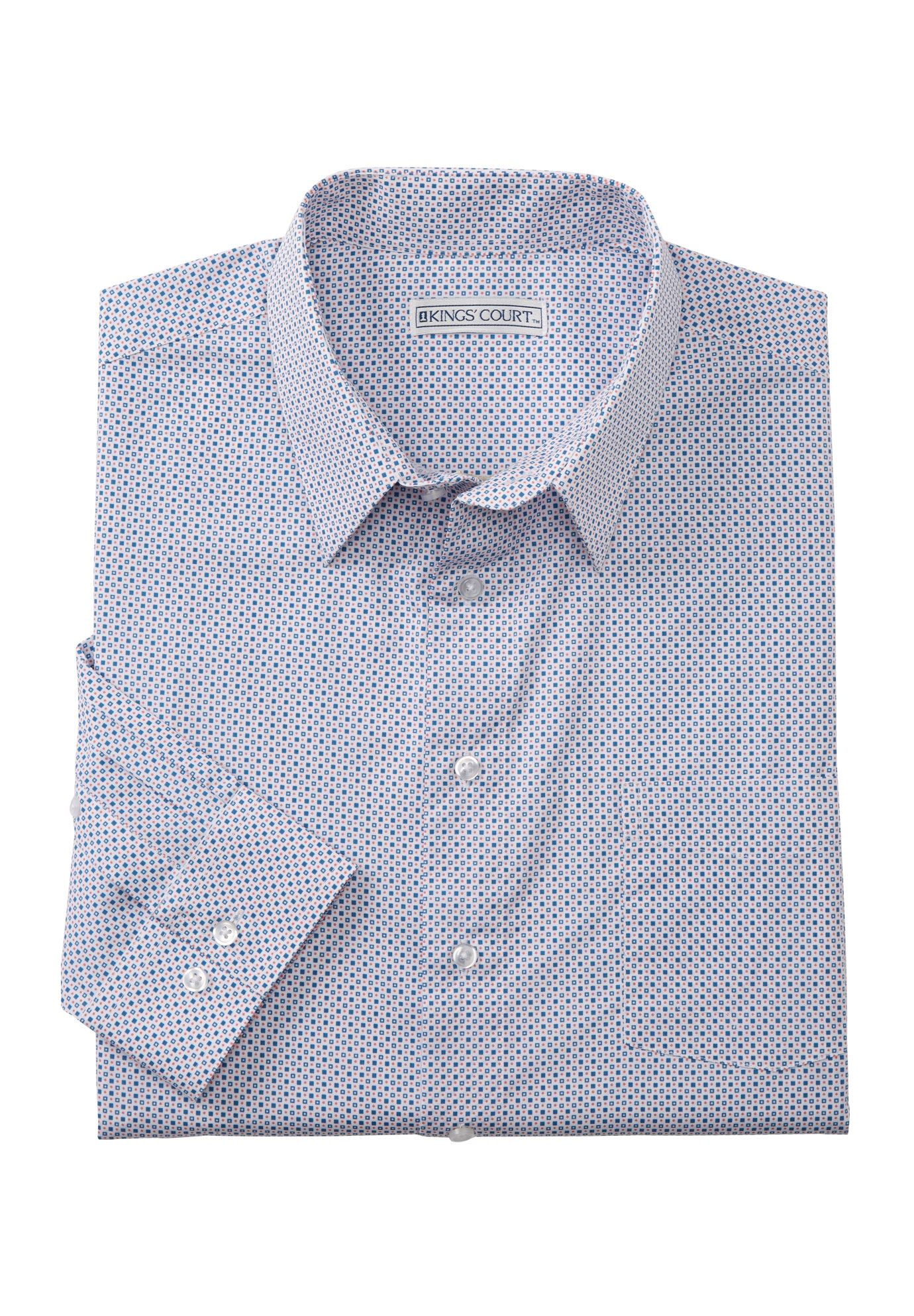 No Hassle® Patterned Long-Sleeve Dress Shirt by KS Signature®,
