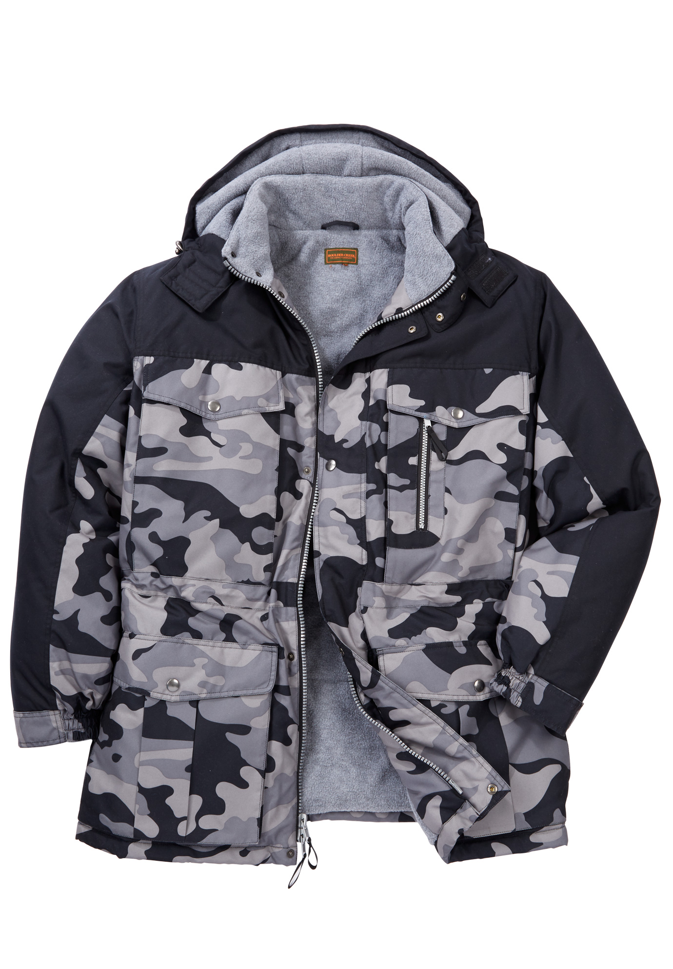 Colorblock Expedition Hooded Parka by Boulder Creek®,