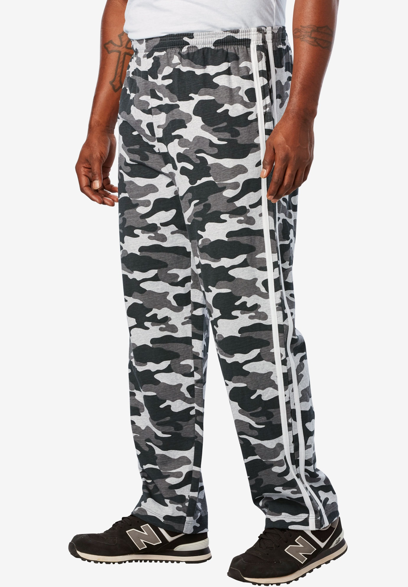 0c617ff73 Lightweight Sweat Pants with Side Stripes | Plus Size Active Pants ...