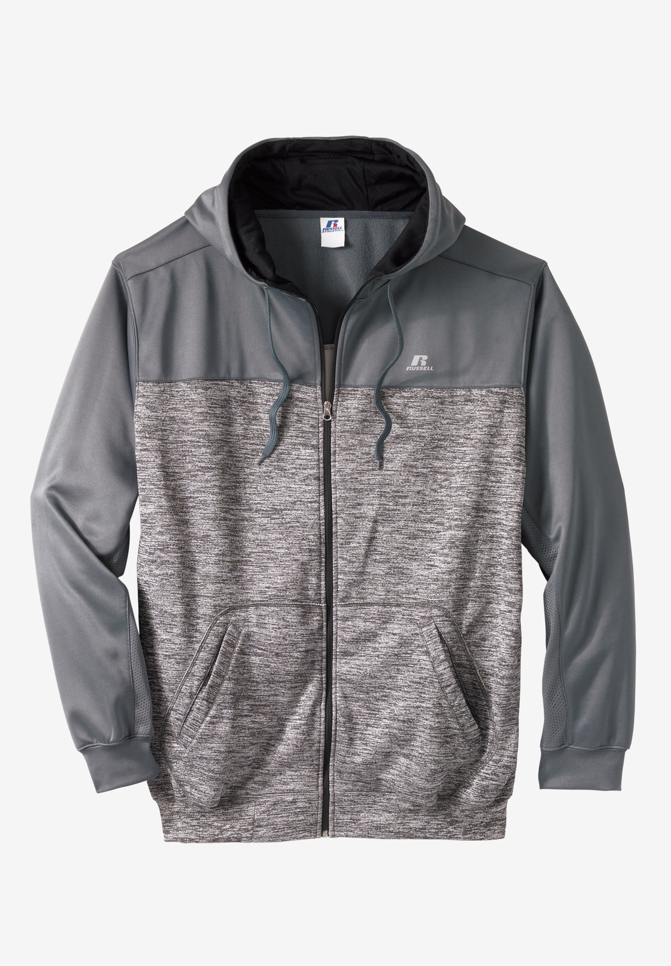 f35ed61f0 Poly Fleece Full-Zip Hoodie by Russell Athletic®| Big and Tall ...