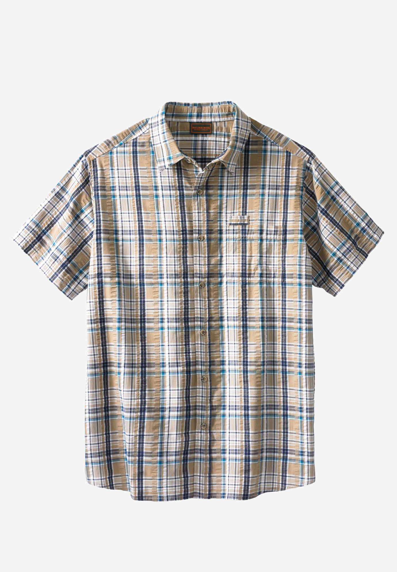 Lightweight Expedition Plaid Shirt by Boulder Creek®,
