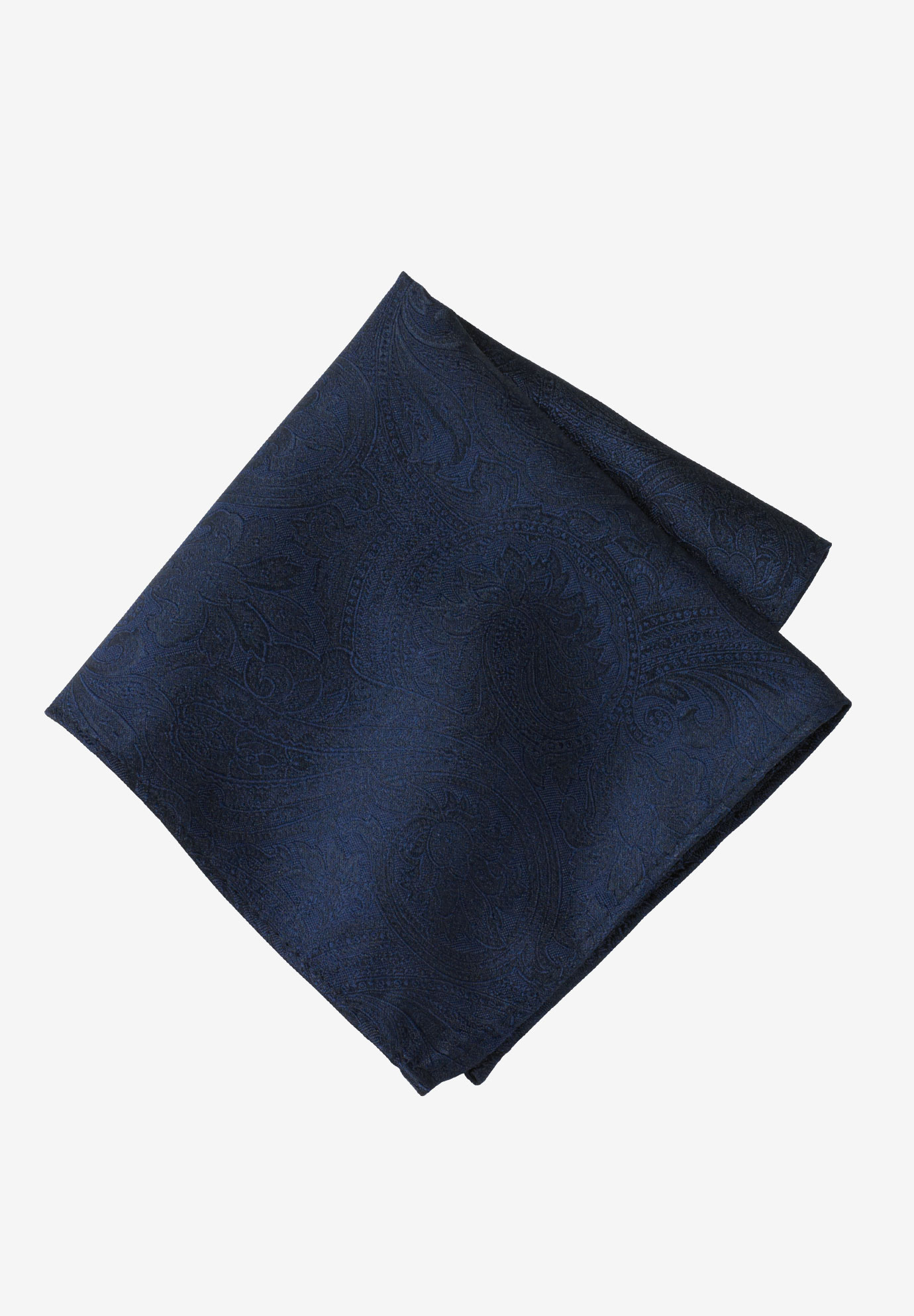 Pocket Square by KS Signature, NAVY PAISLEY