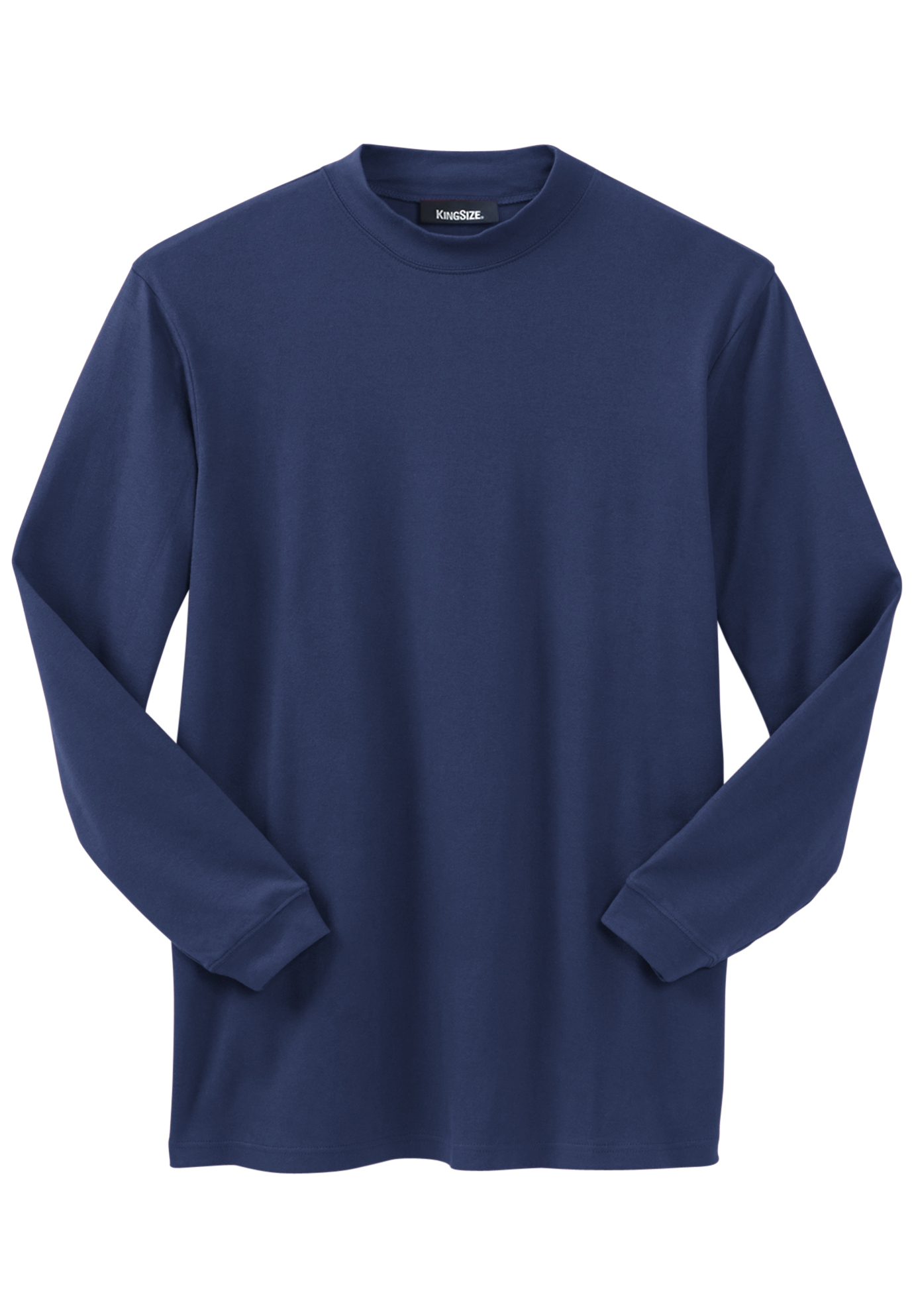 Mock Turtleneck Long-Sleeve Cotton Tee,