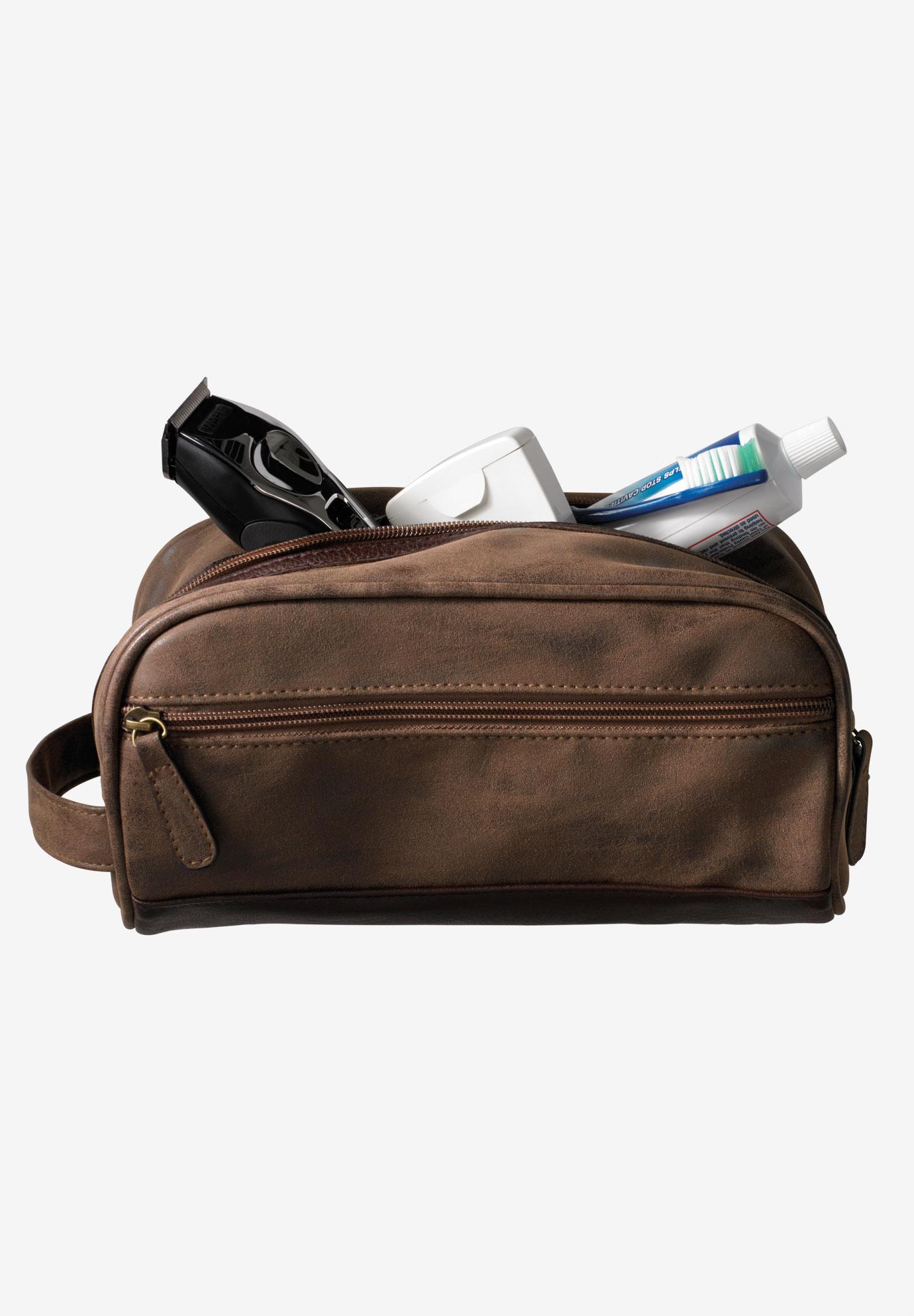 Travel Shaving Bag Brown