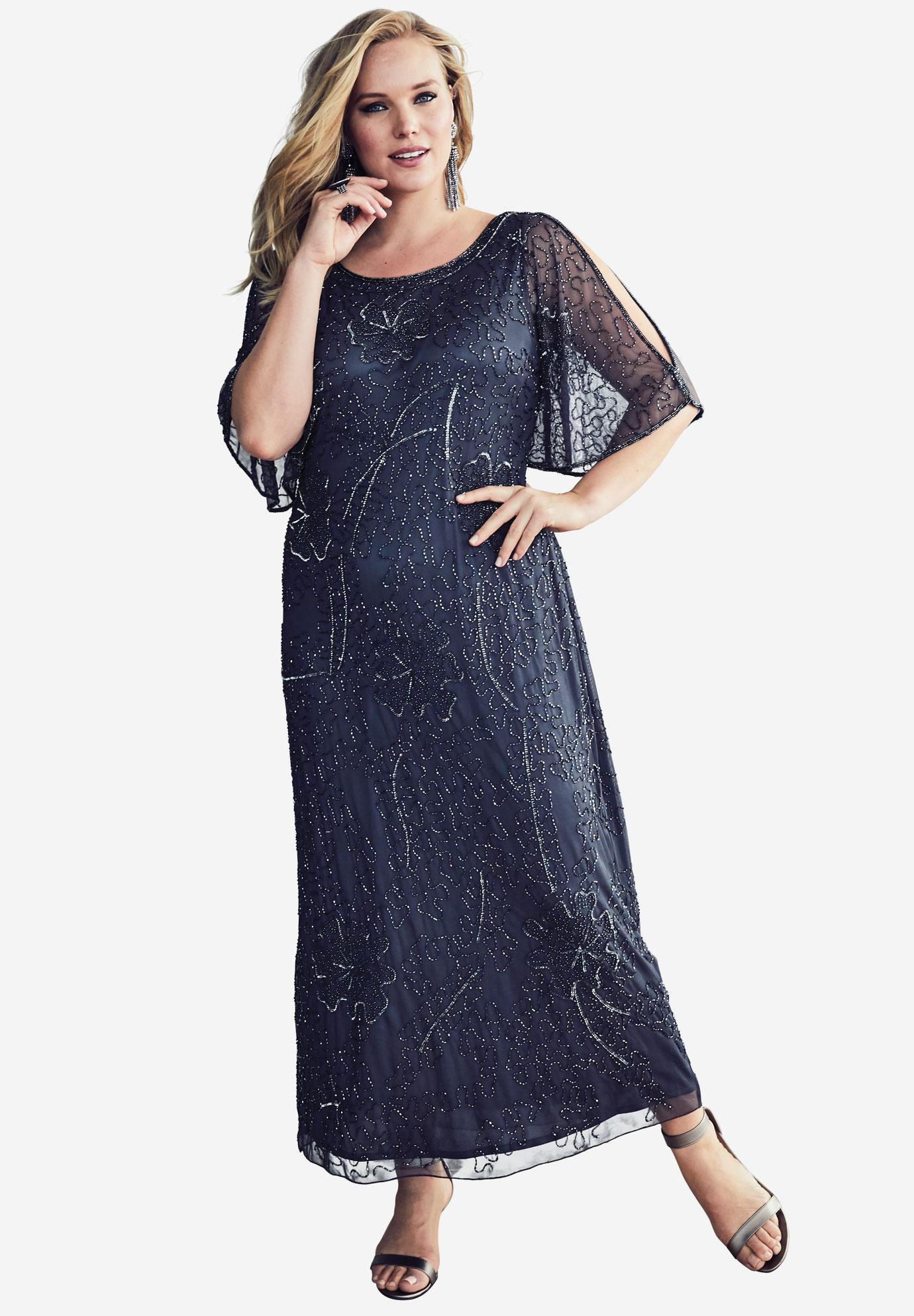 2c7cf42378e Beaded Cold Shoulder Dress By Pisarro Nights