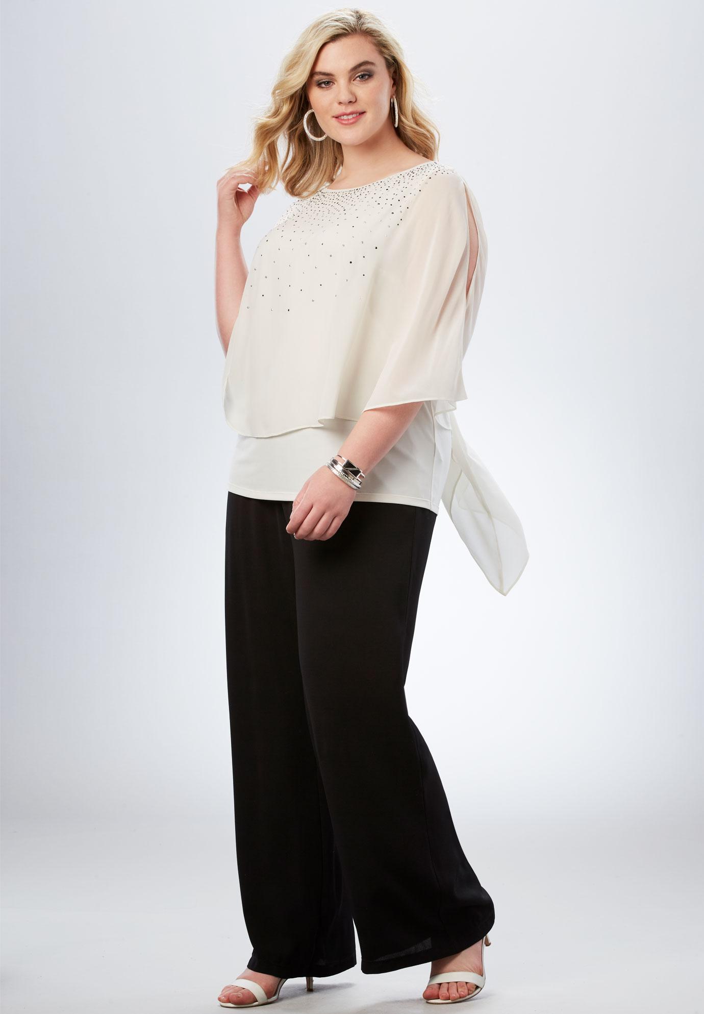 studded pant set plus size pants full beauty