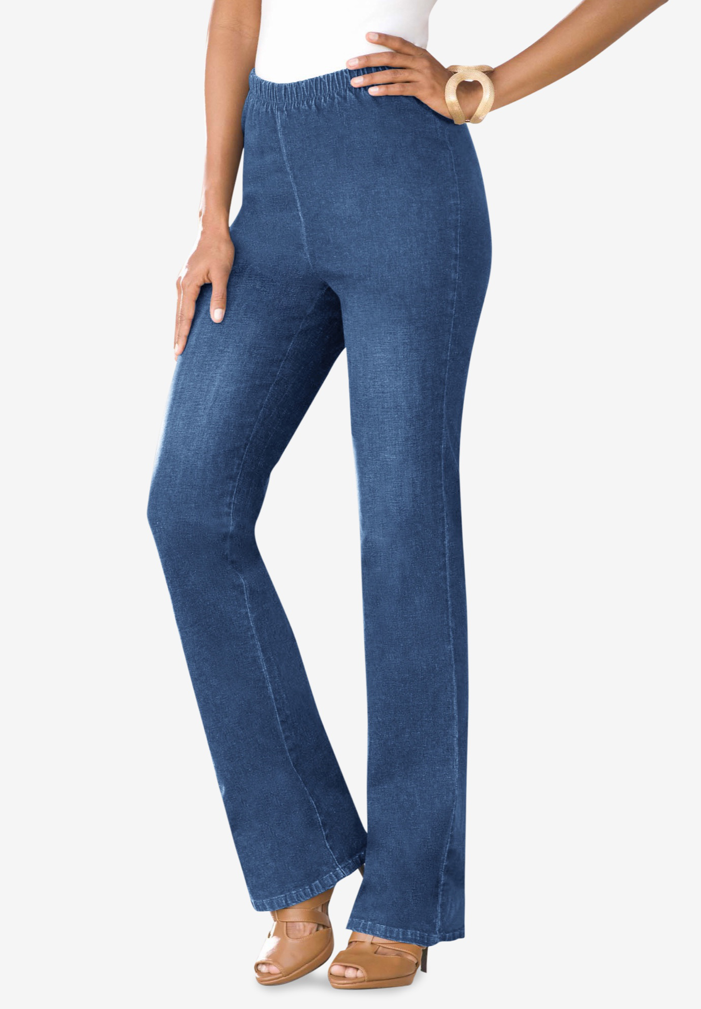 Bootcut Pull-On Stretch Jean by Denim 24/7®,