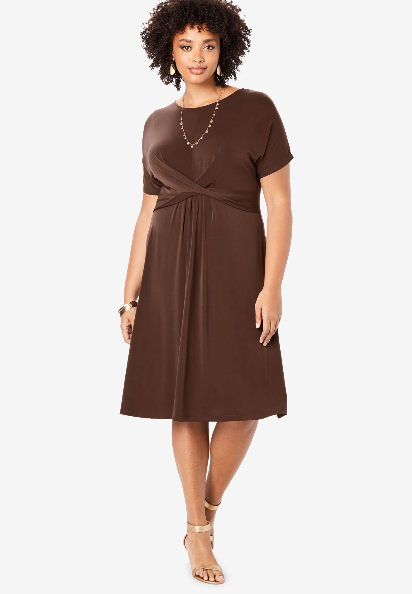 Ultrasmooth® Twist-Front Dress,