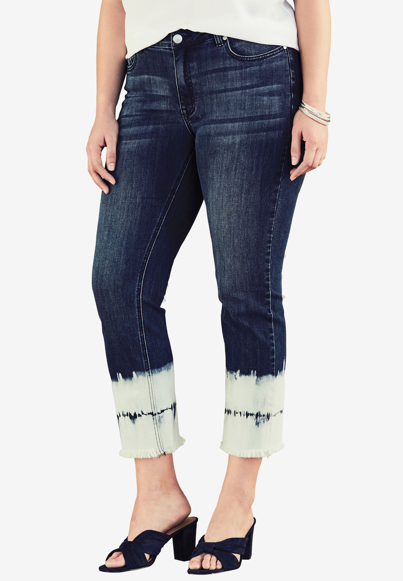 Tie-Dye Crop Jean by Denim 24/7®,