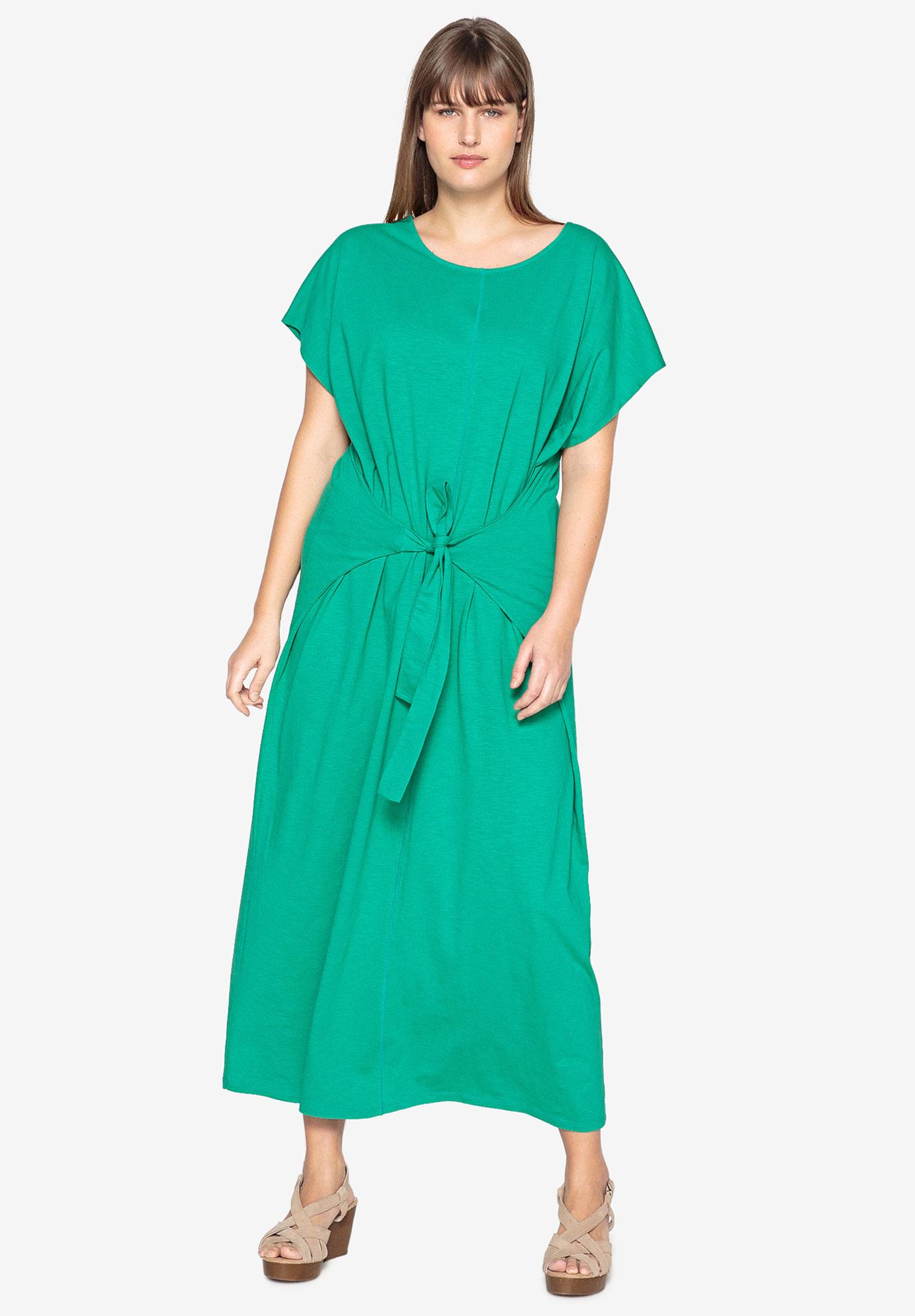 ee1b777db2 Tie-Front Maxi Dress by Castaluna| Plus Size Maxi Dresses | Full Beauty