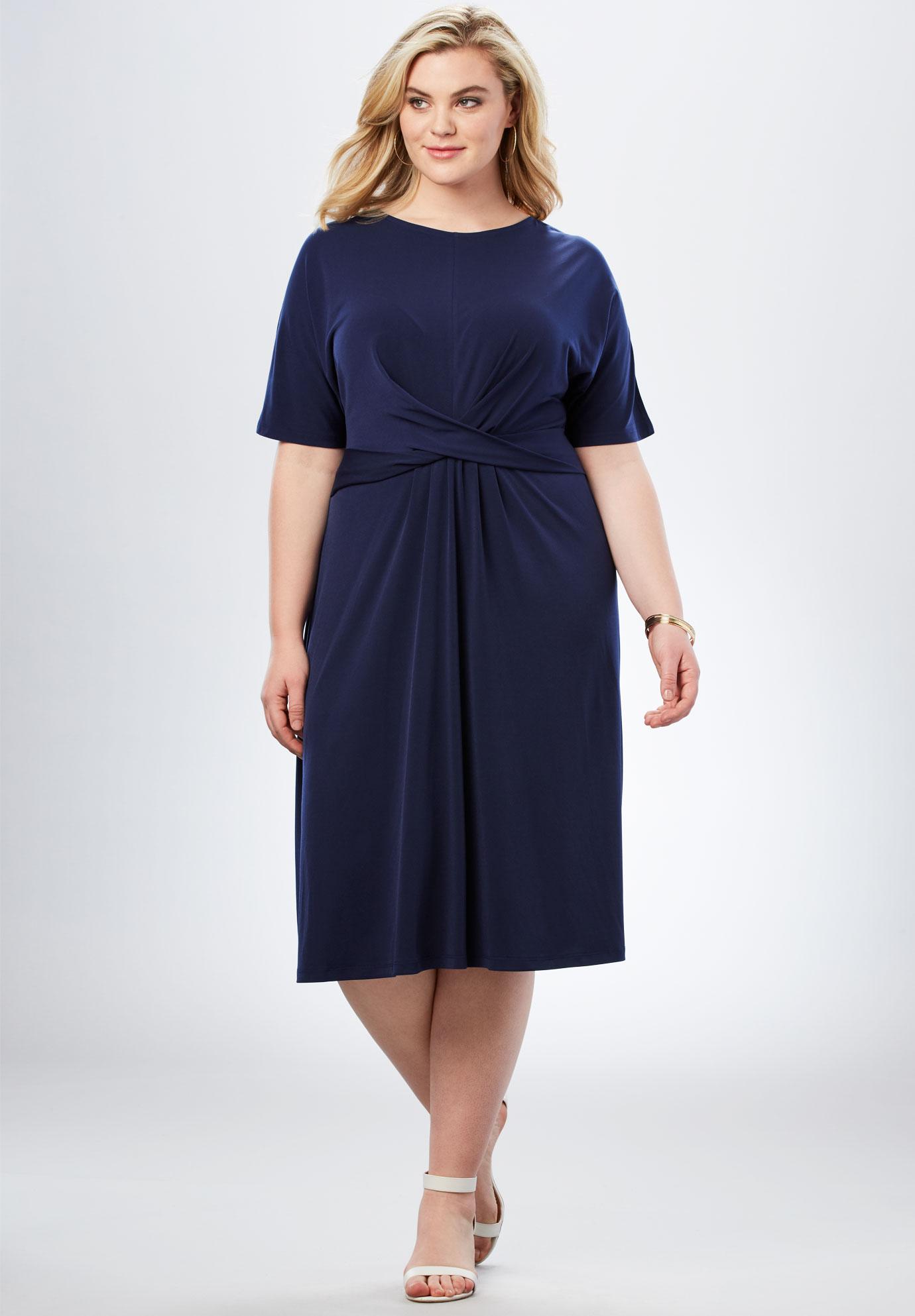 Twist Front Dress| Plus Size Work Dresses | Full Beauty