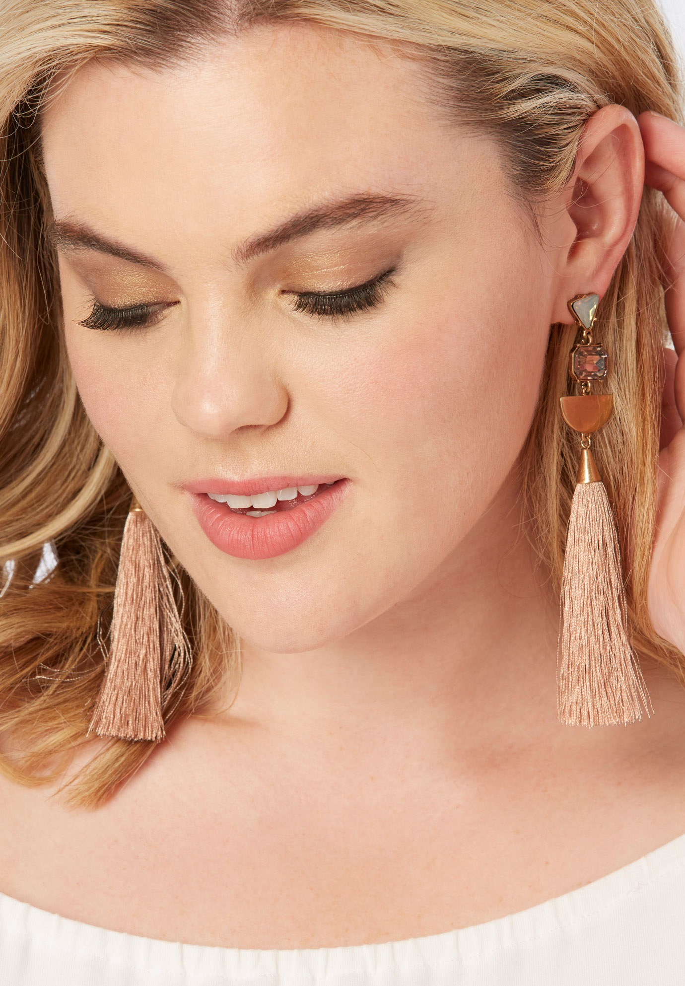 Geometric Tassel Earrings,