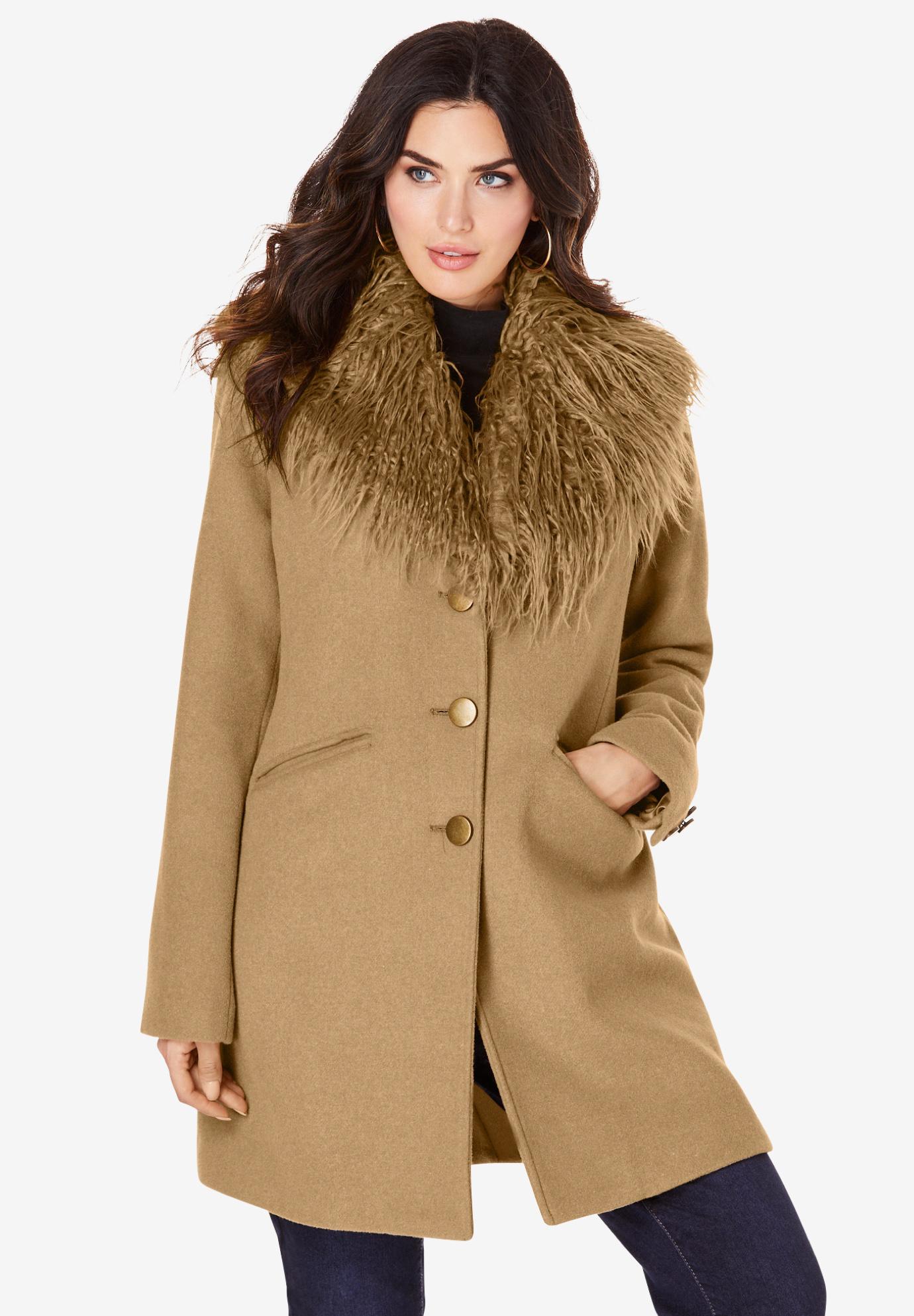 8f206242841 Short Wool-Blend Coat