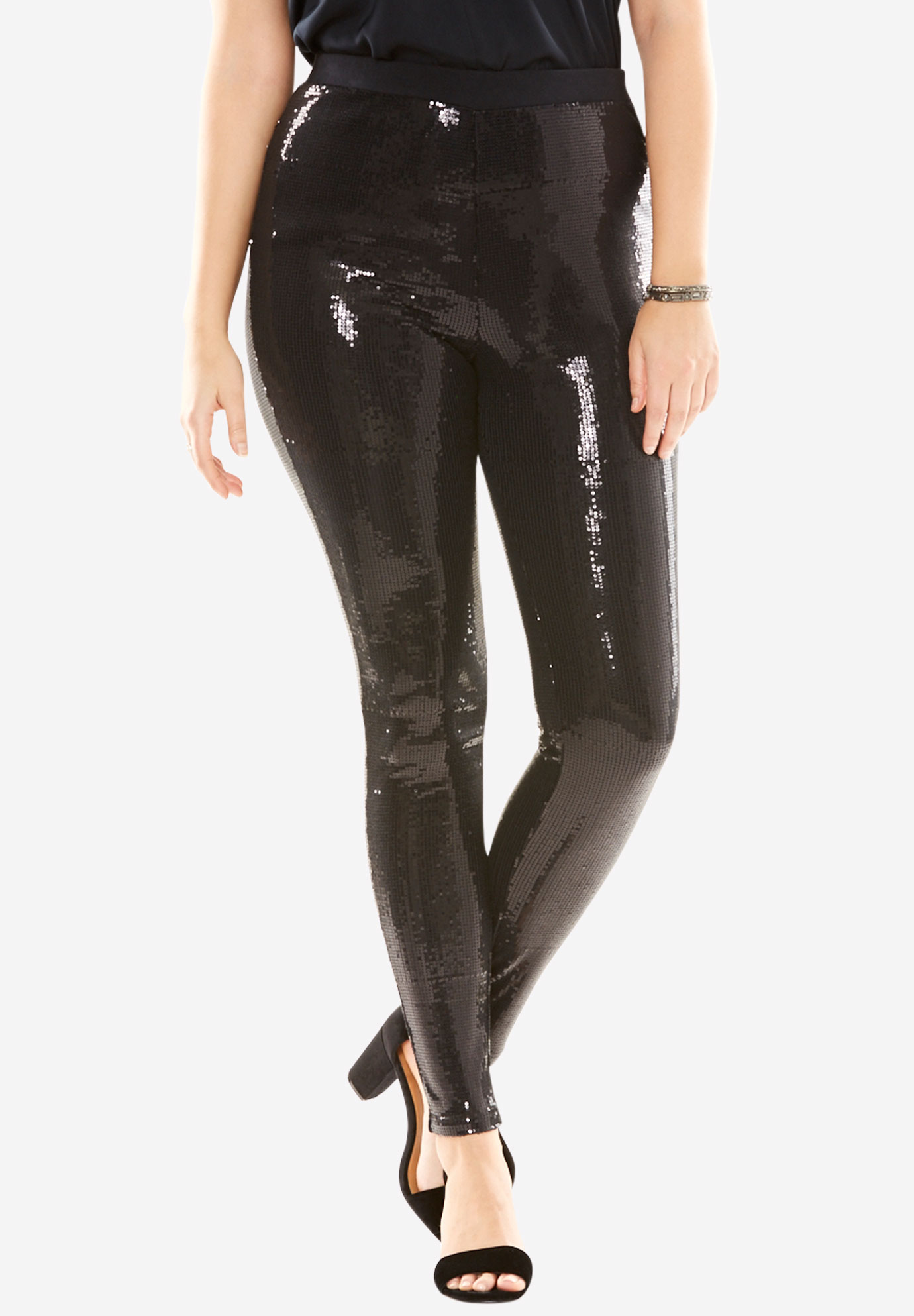 09bd0e1a6f7759 Sequin Leggings| Plus Size Pants | Full Beauty