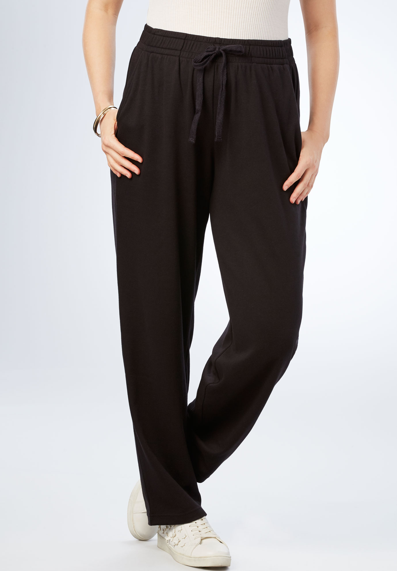 Straight Leg Soft Knit Pant,
