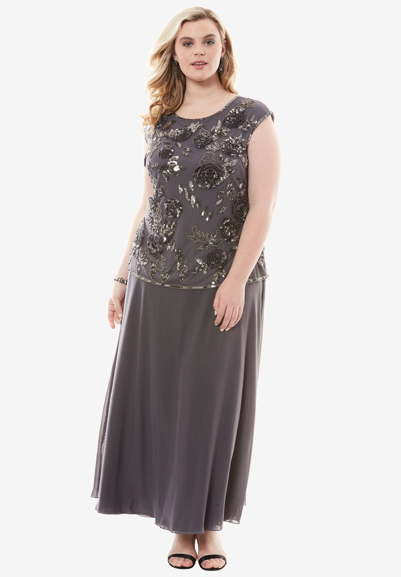 8bffe27fc99 Floral Sequin Dress by Pisarro Nights