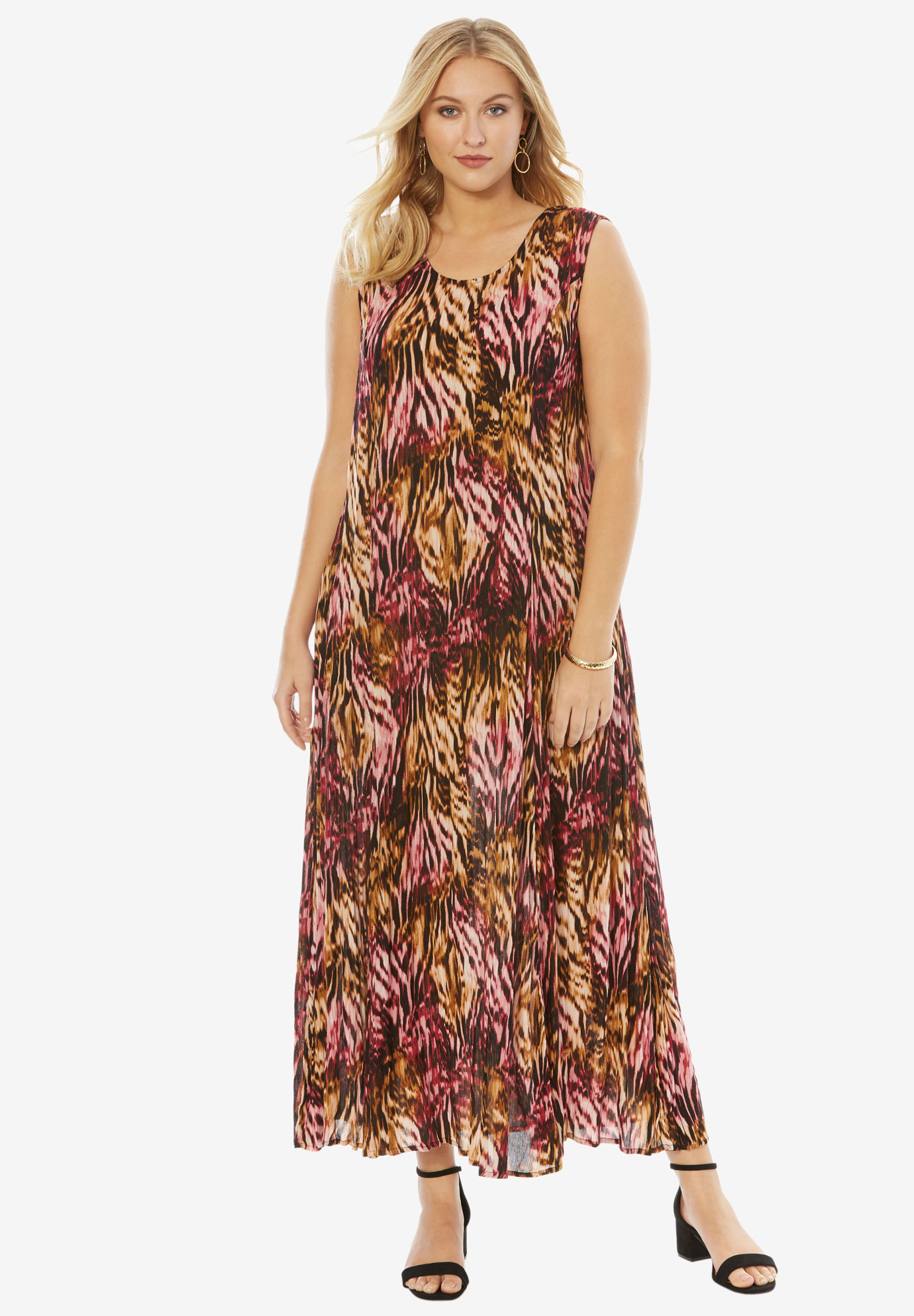 81a0be2a429 A-Line Crinkle Maxi Dress