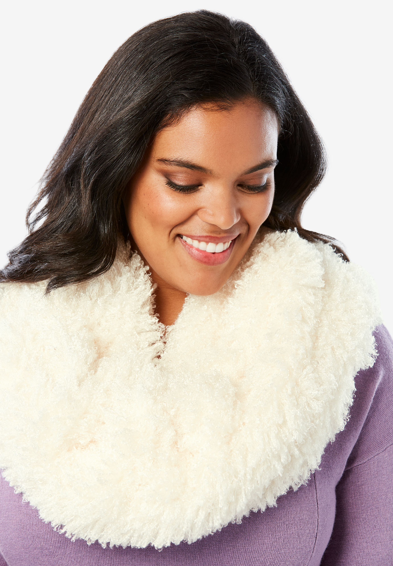 Faux-Fur Infinity Scarf,