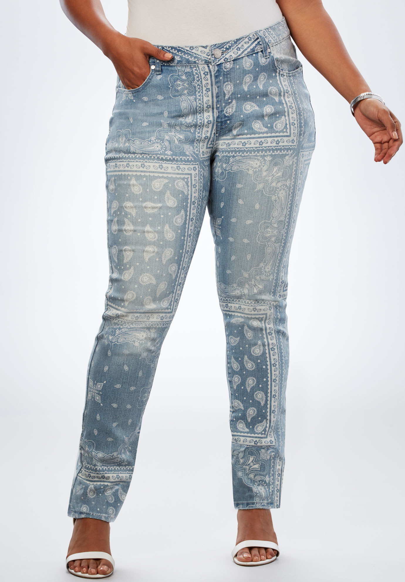 b255c5546ac Bandana-Print Jean by Denim 24 7®