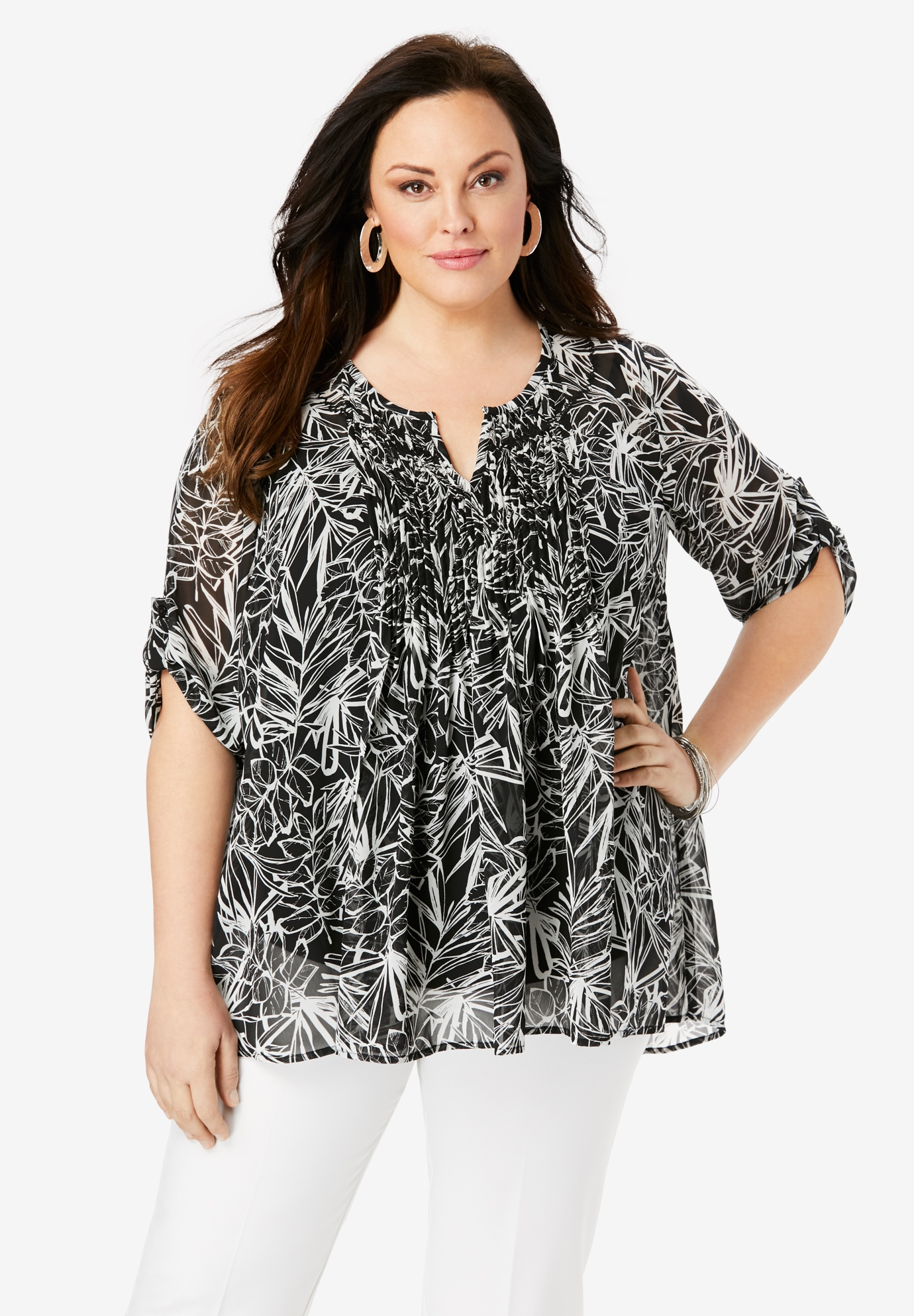 Tara Pleated Top,