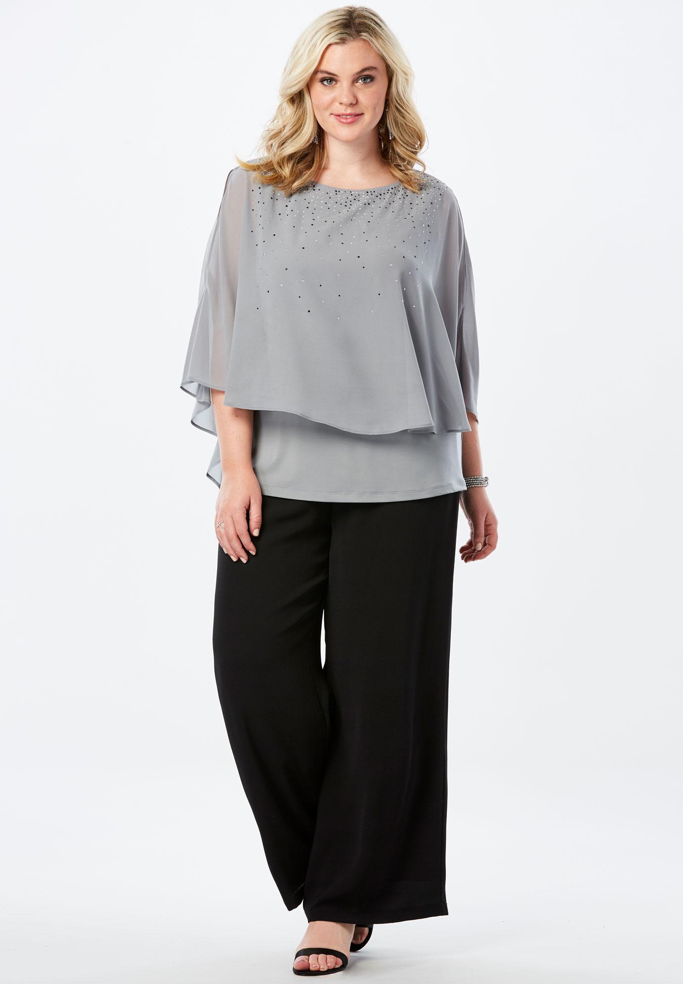 a3536fc76 Studded Pant Set| Plus Size Suits & Sets | Full Beauty