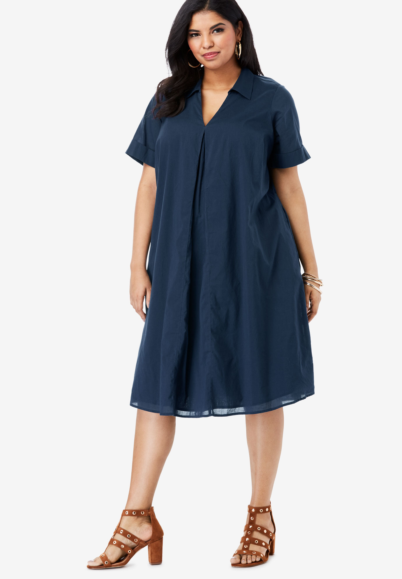 Collared Swing Dress,