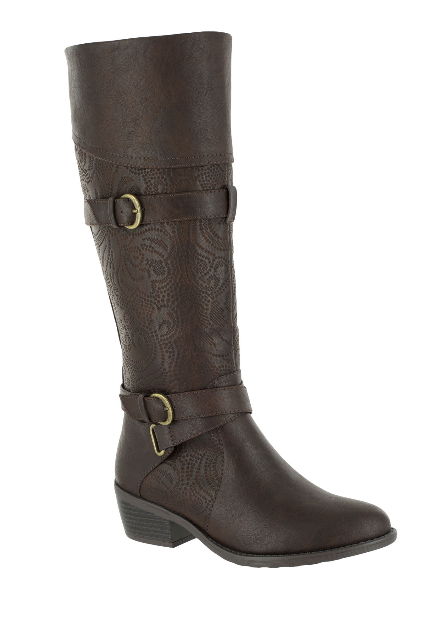 Kelsa Plus Wide Calf Boots by Easy Street®,