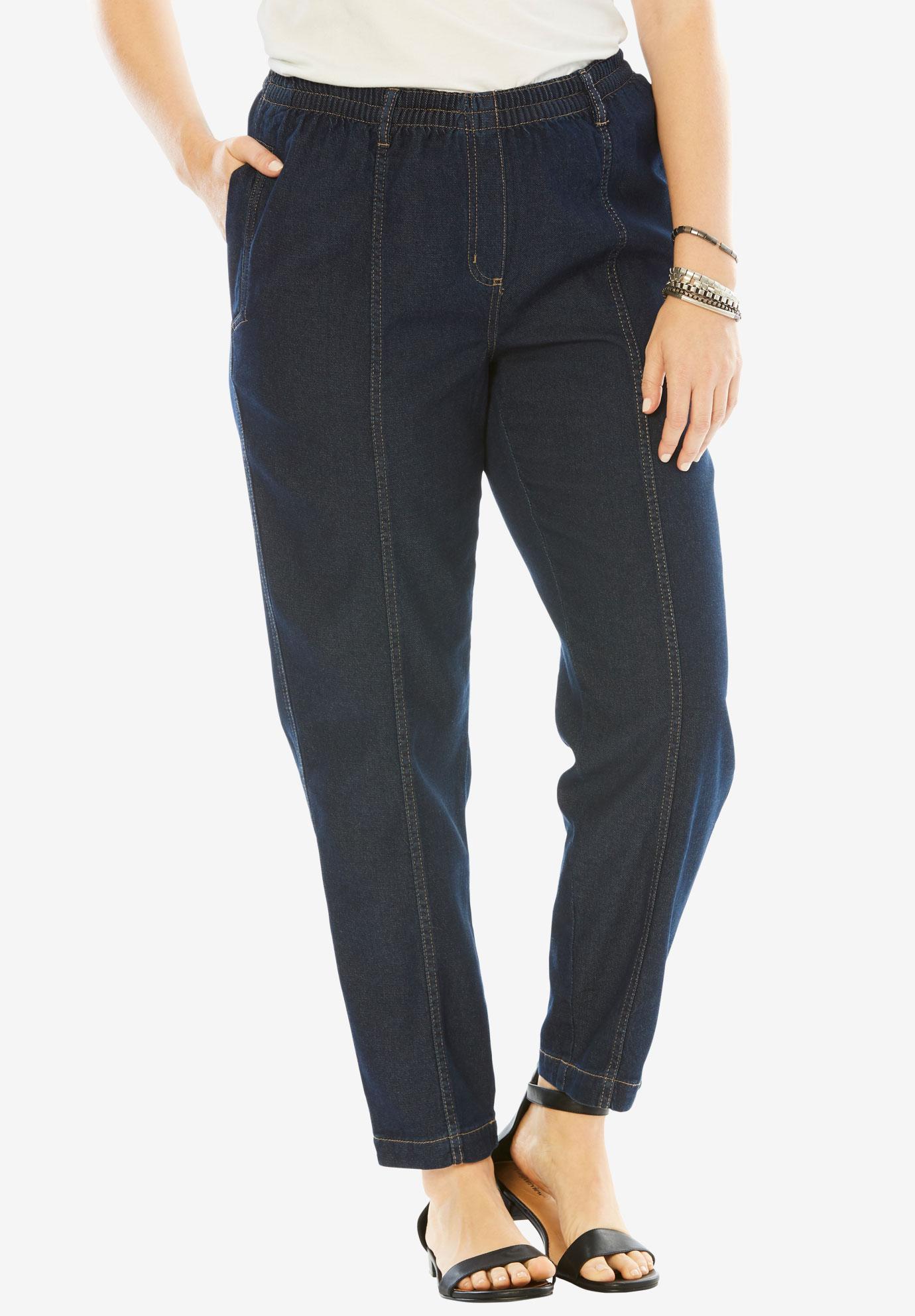 Kate Elastic Waist Jeans   Plus Size Denim Shop   Full Beauty