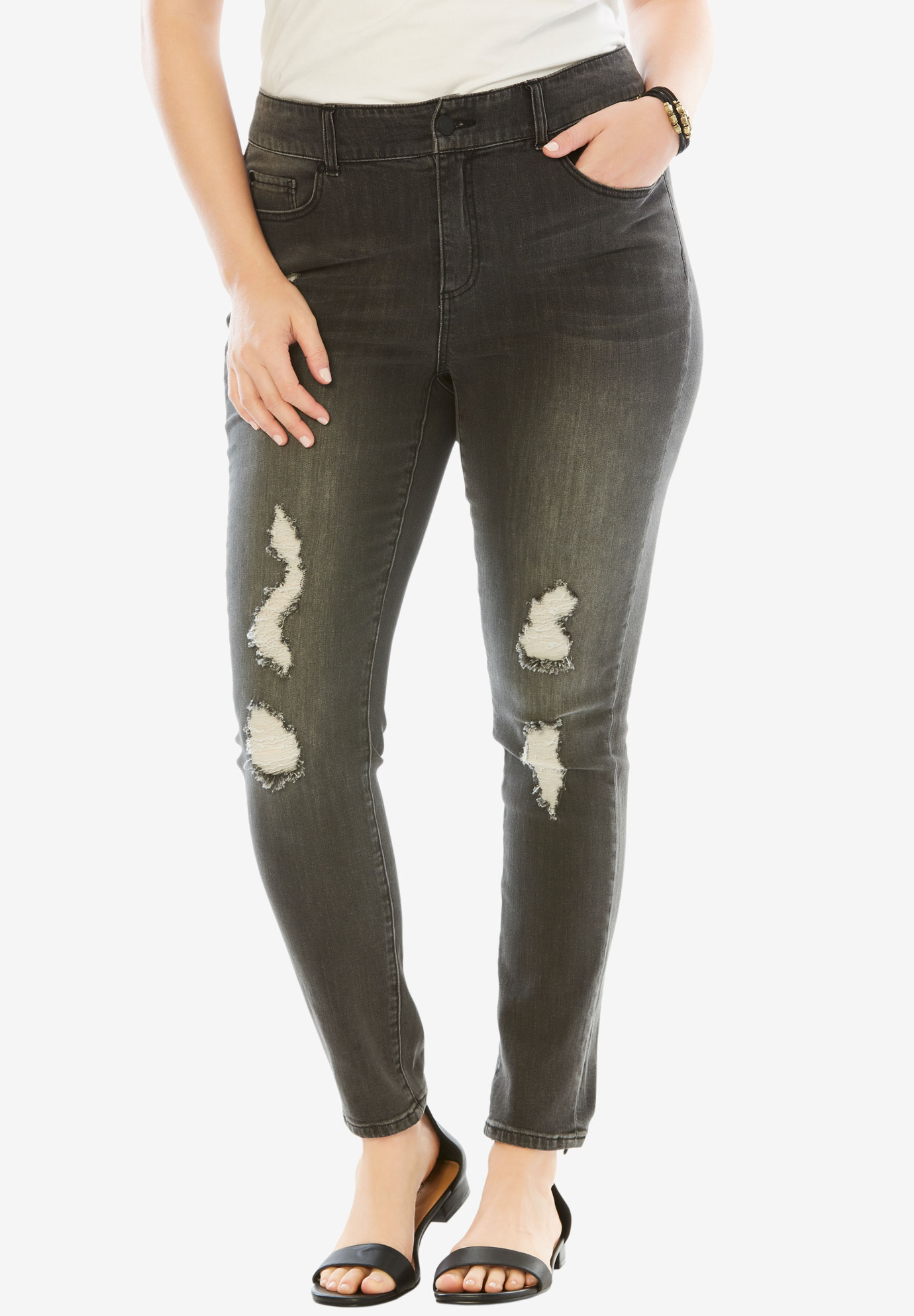 Distressed Jean by Denim 24/7®,