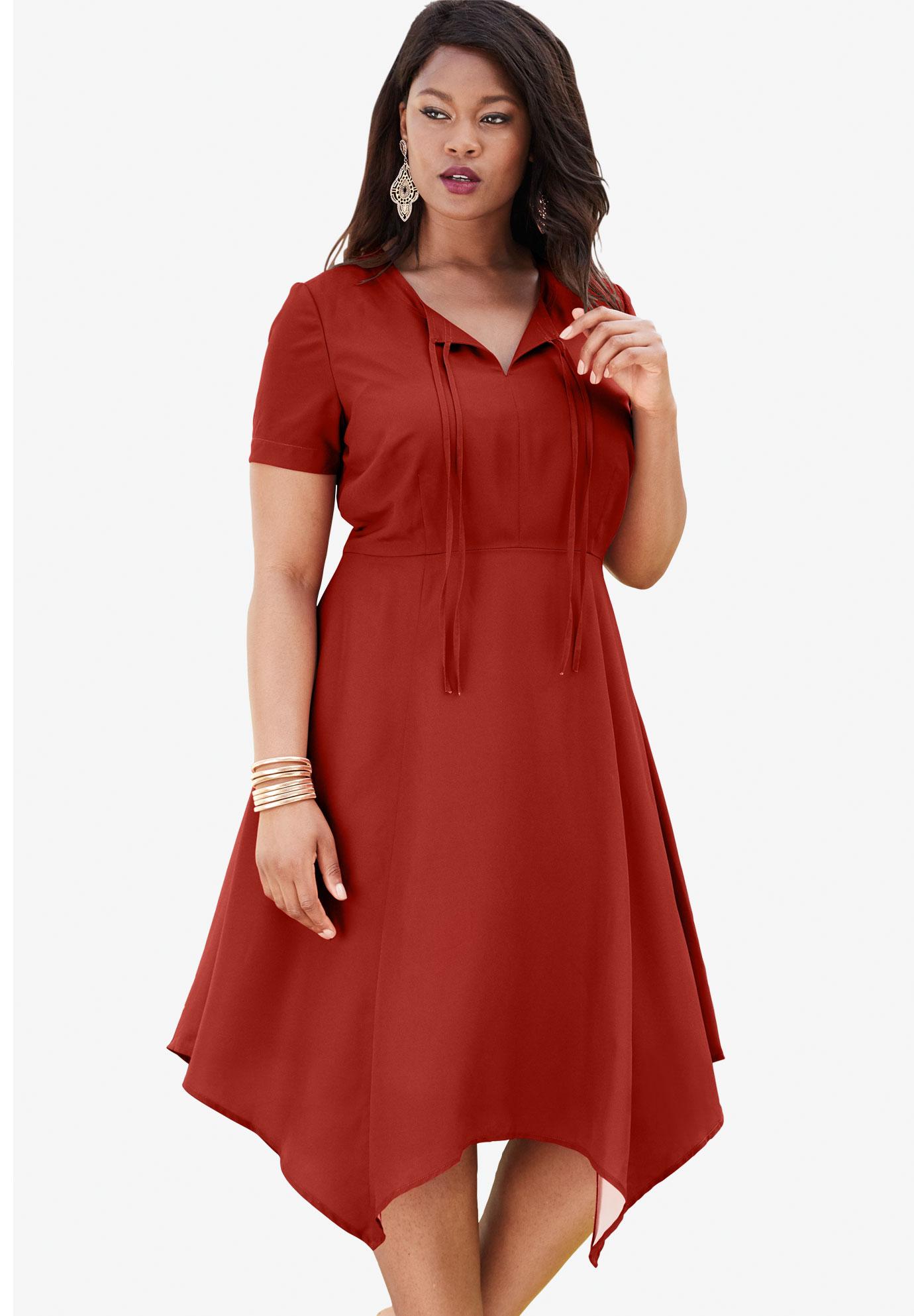 1a2b77da29d High-Low Tie-Front Dress