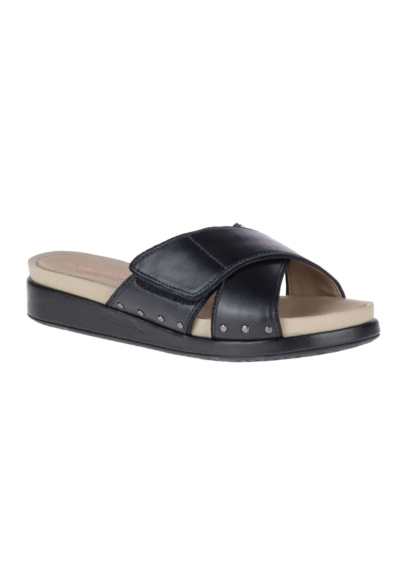 Chrysta Xband Slide Sandals By Hush Puppies Plus Size Slides