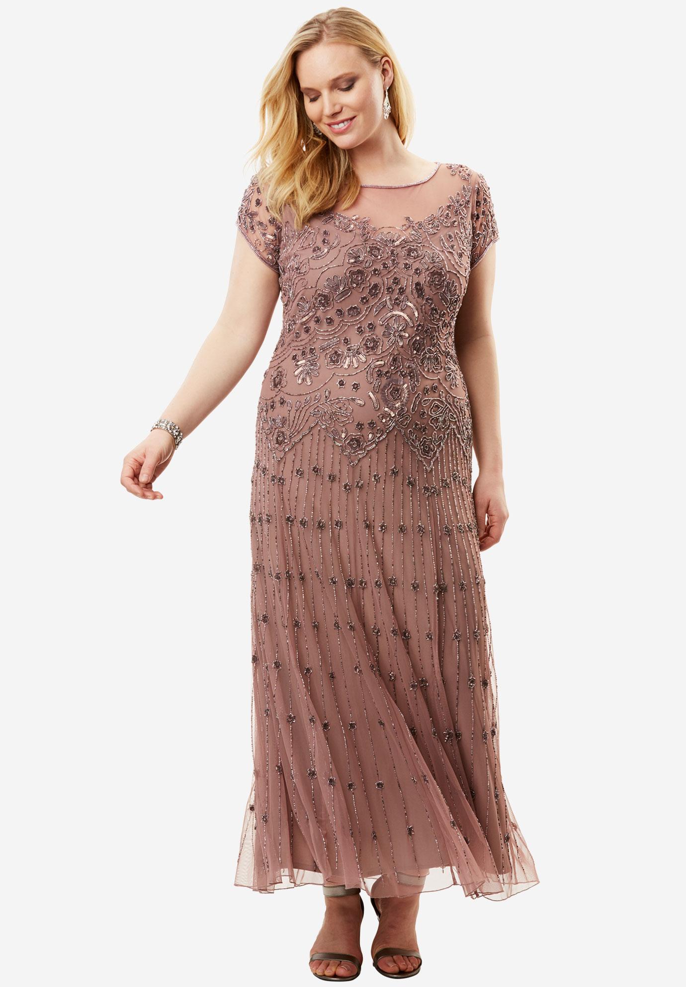 0c444eaa773 lllusion Beaded Mesh Dress by Pisarro Nights