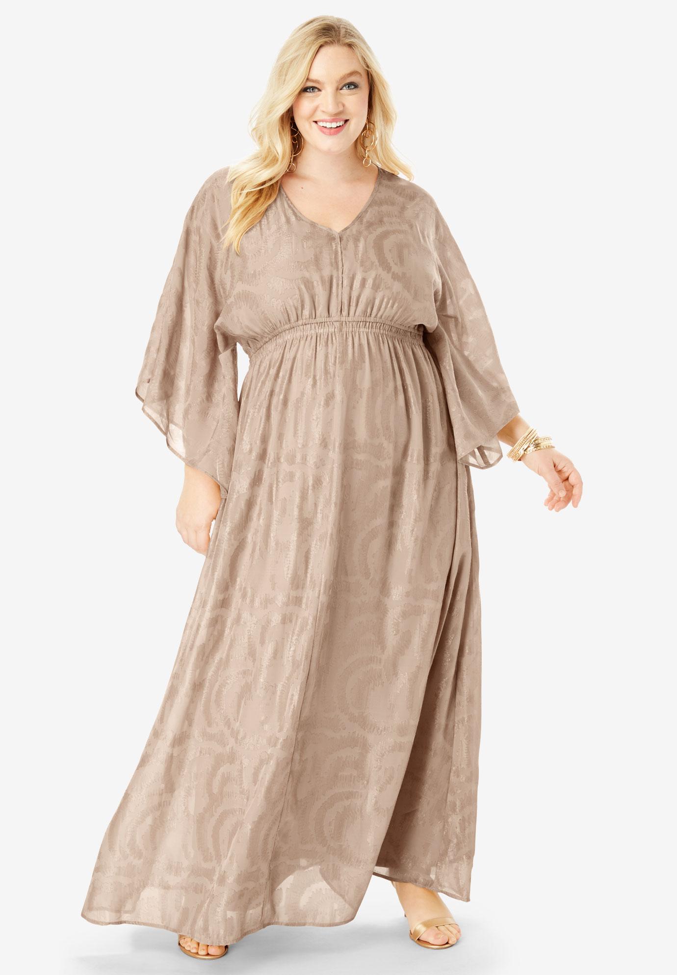 Kimono-Sleeve Maxi Dress  Plus Size Dresses   Full Beauty