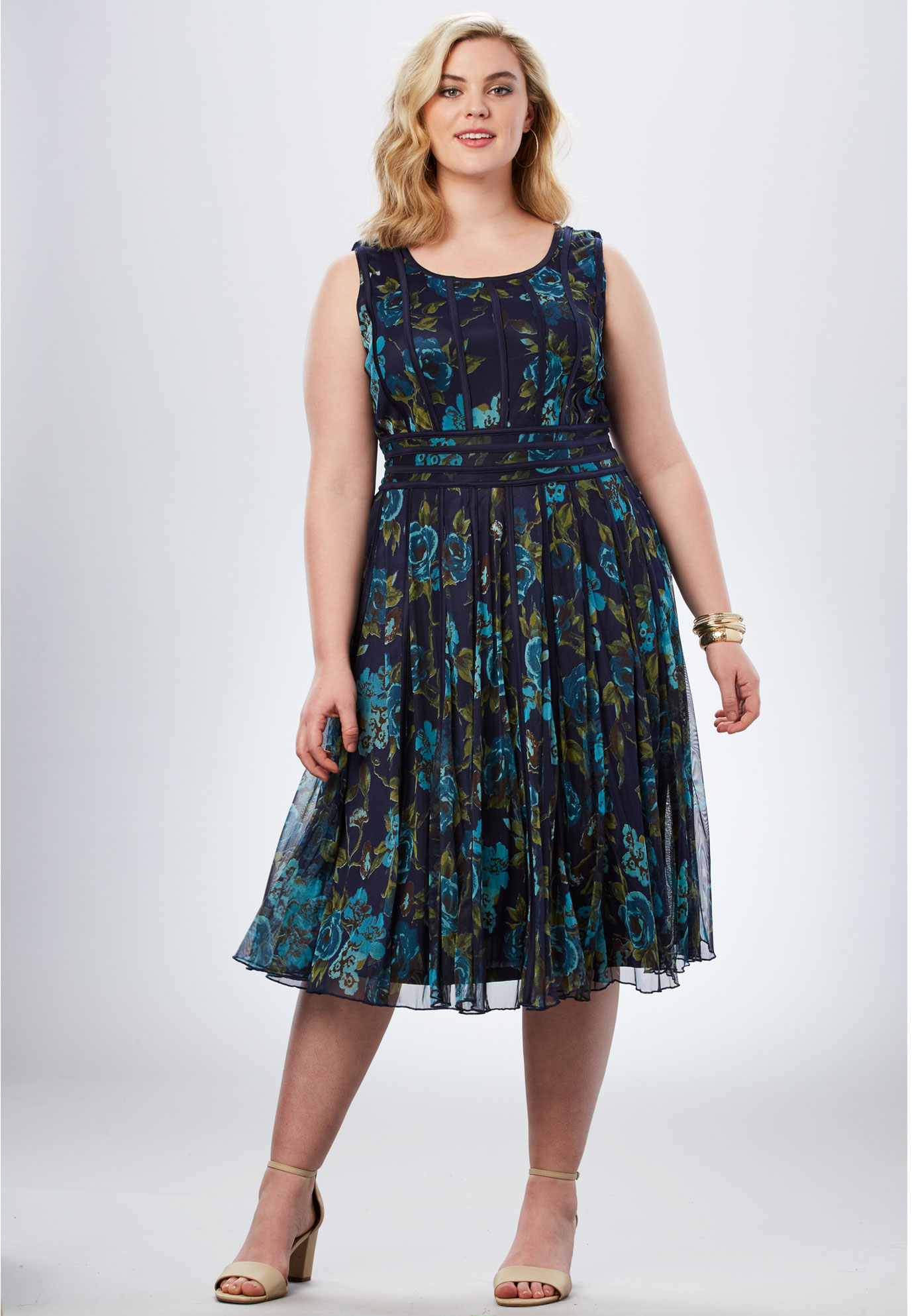 Mesh Dress| Plus Size Special Occasion Dresses | Full Beauty