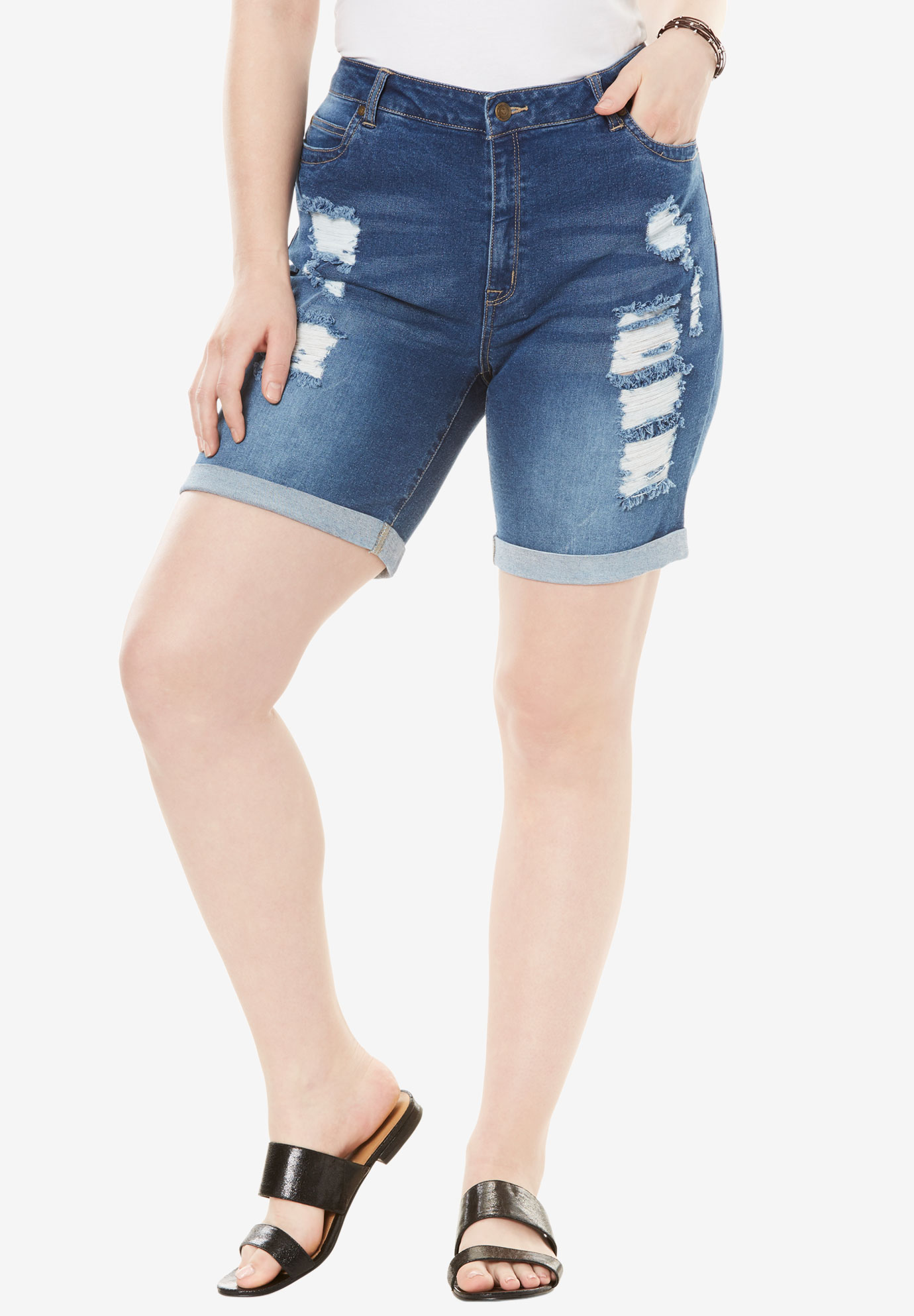 344611d5a31aa Distressed Shorts by Denim 24 7®
