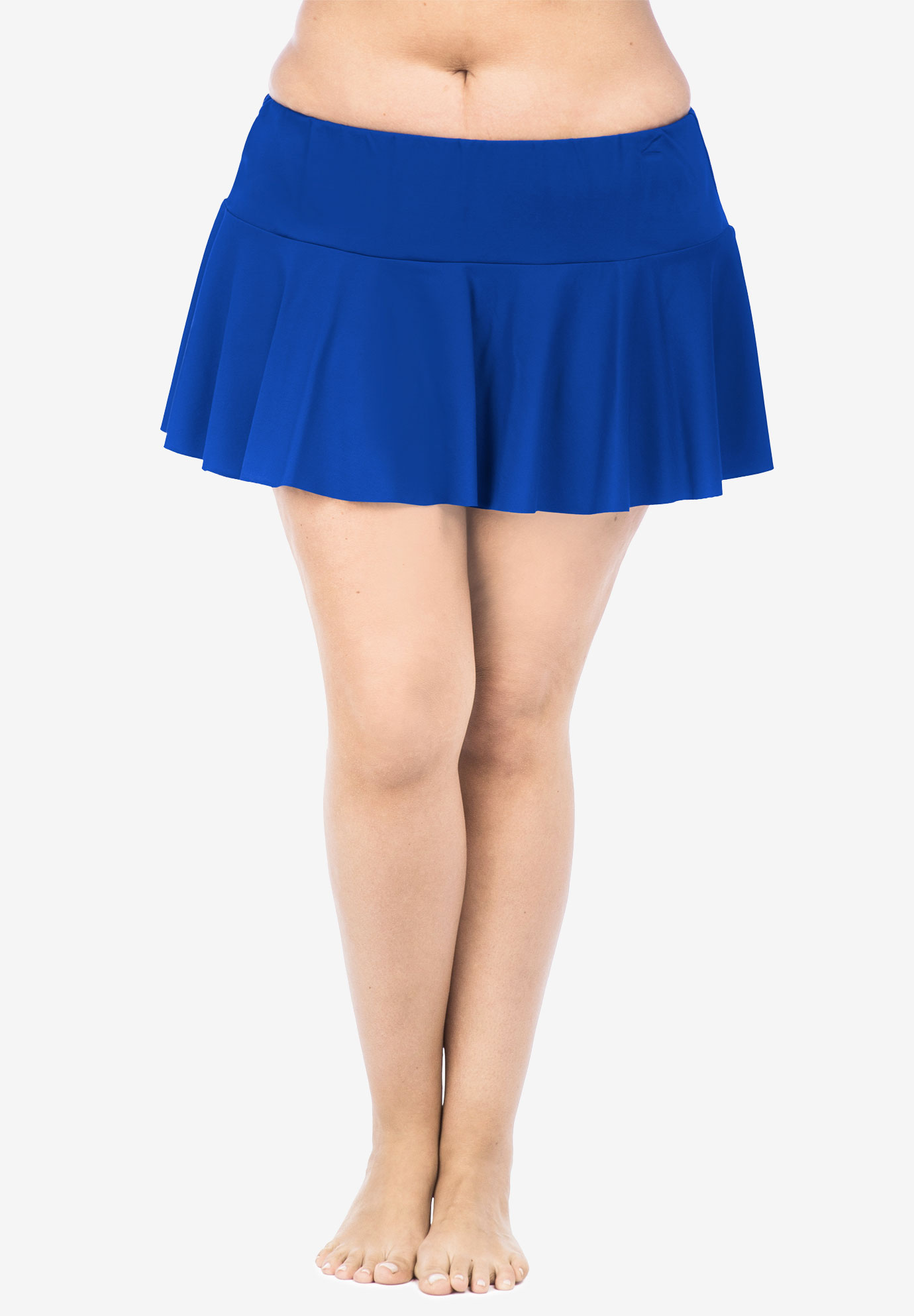 Ruffled Hipster Swim Skirt by Chaps,