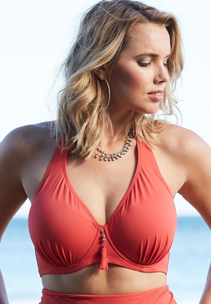 7e7bd709c0c09 Underwire Halter Bikini Top| Plus Size Active & Swimwear | Full Beauty