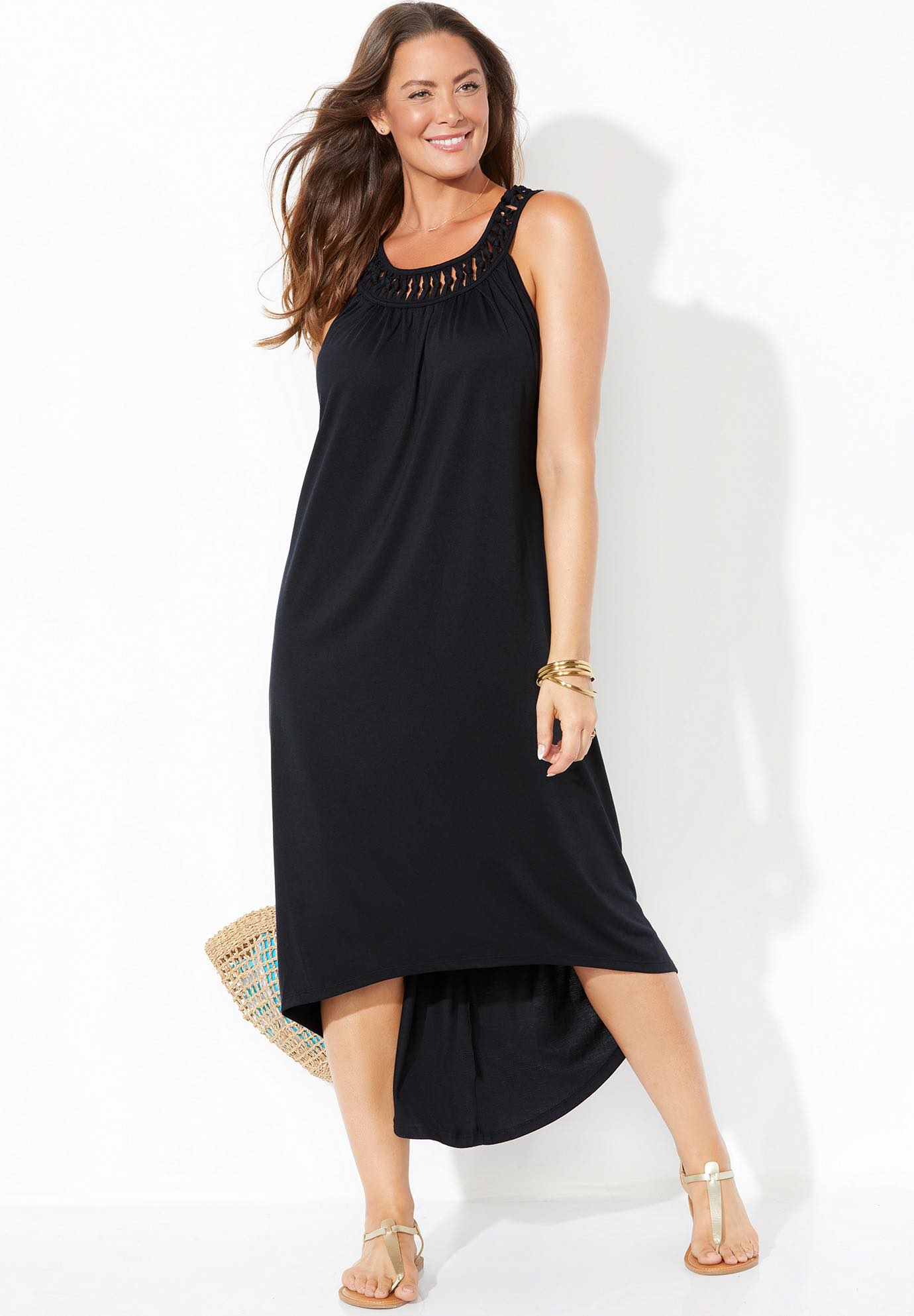 High Low Dress Swimsuit Cover Up,