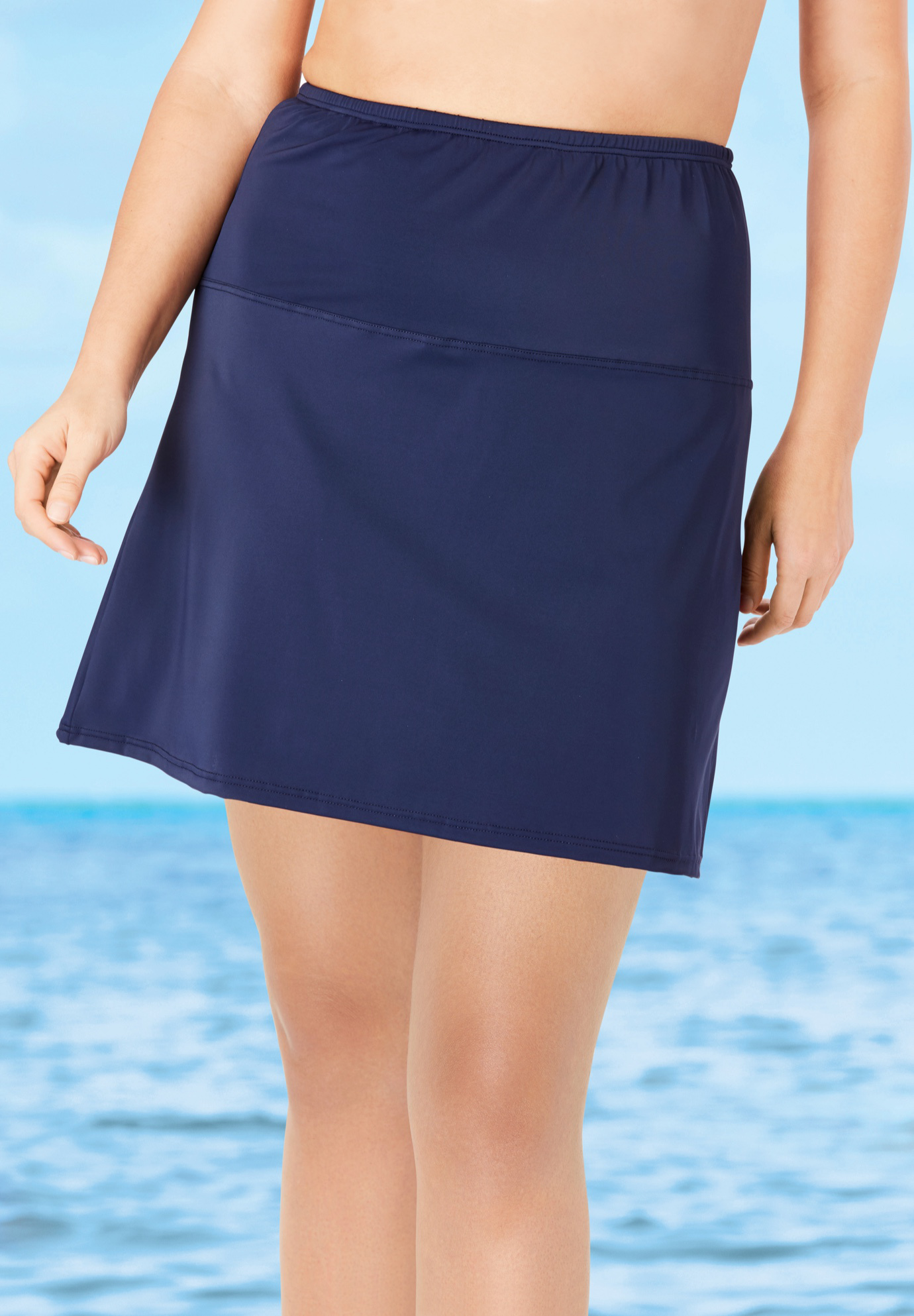 High-Waisted Swim Skirt with Built-In Brief,