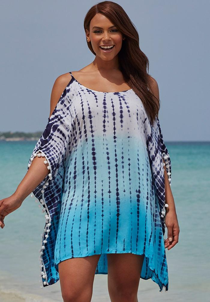 Isabelle Tie Dye Cold Shoulder Tunic Cover Up,
