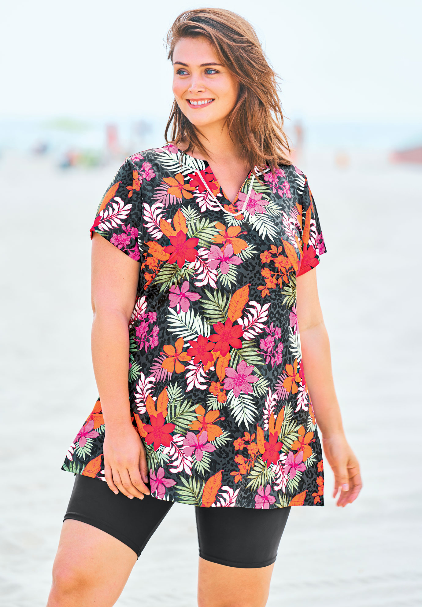 Short-Sleeve Swim Tunic,