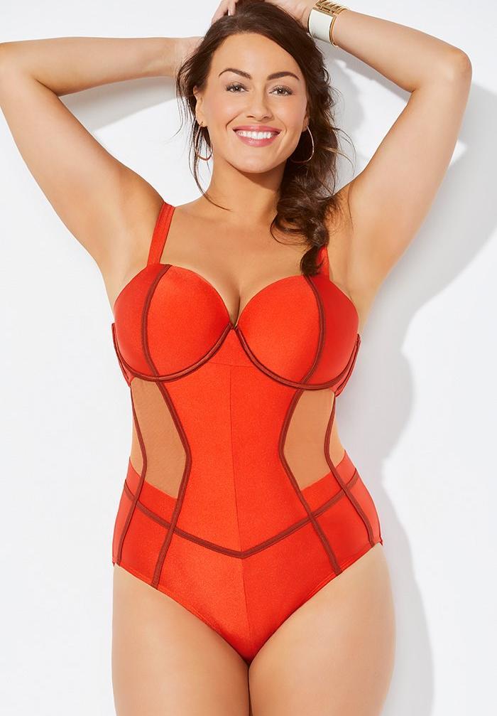 9e4235b1601 GabiFresh x Swimsuits For All Blaze Underwire One Piece Swimsuit ...