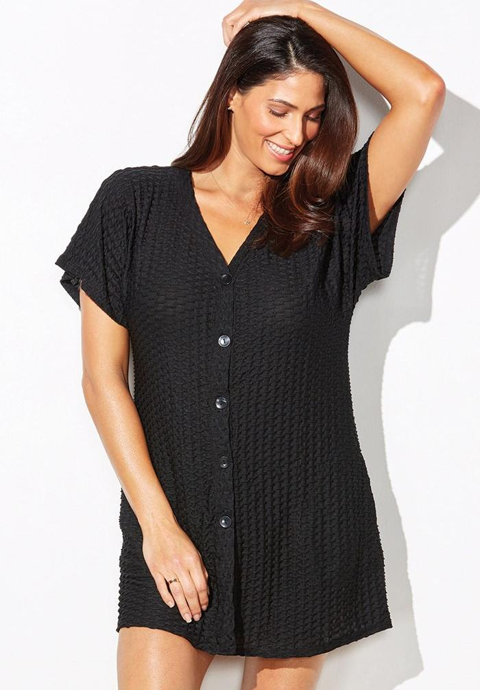 Waffle Button Cover Up,