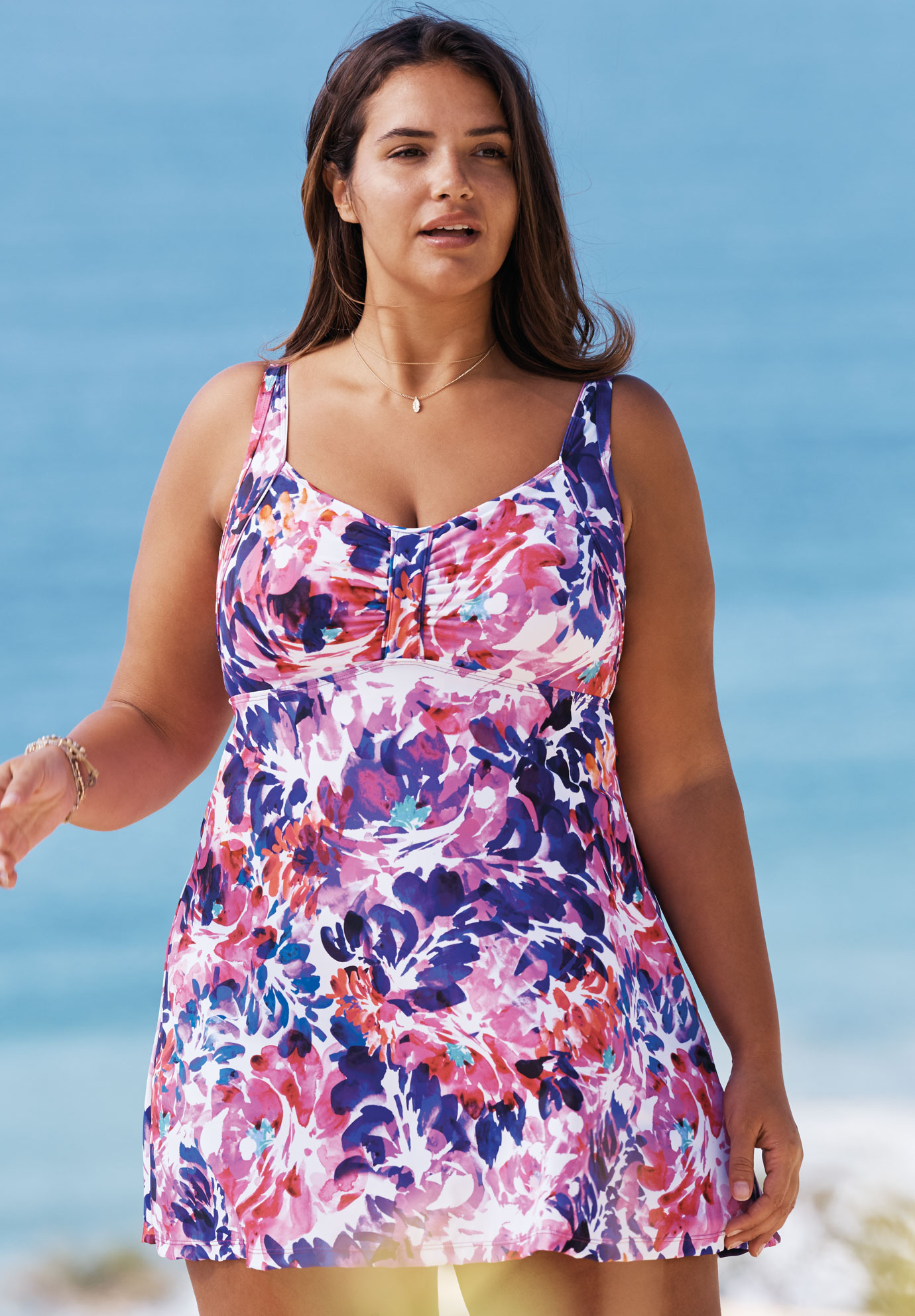 8e88acbfdd8 Retro Empire Swimdress| Plus Size Active & Swimwear | Full Beauty