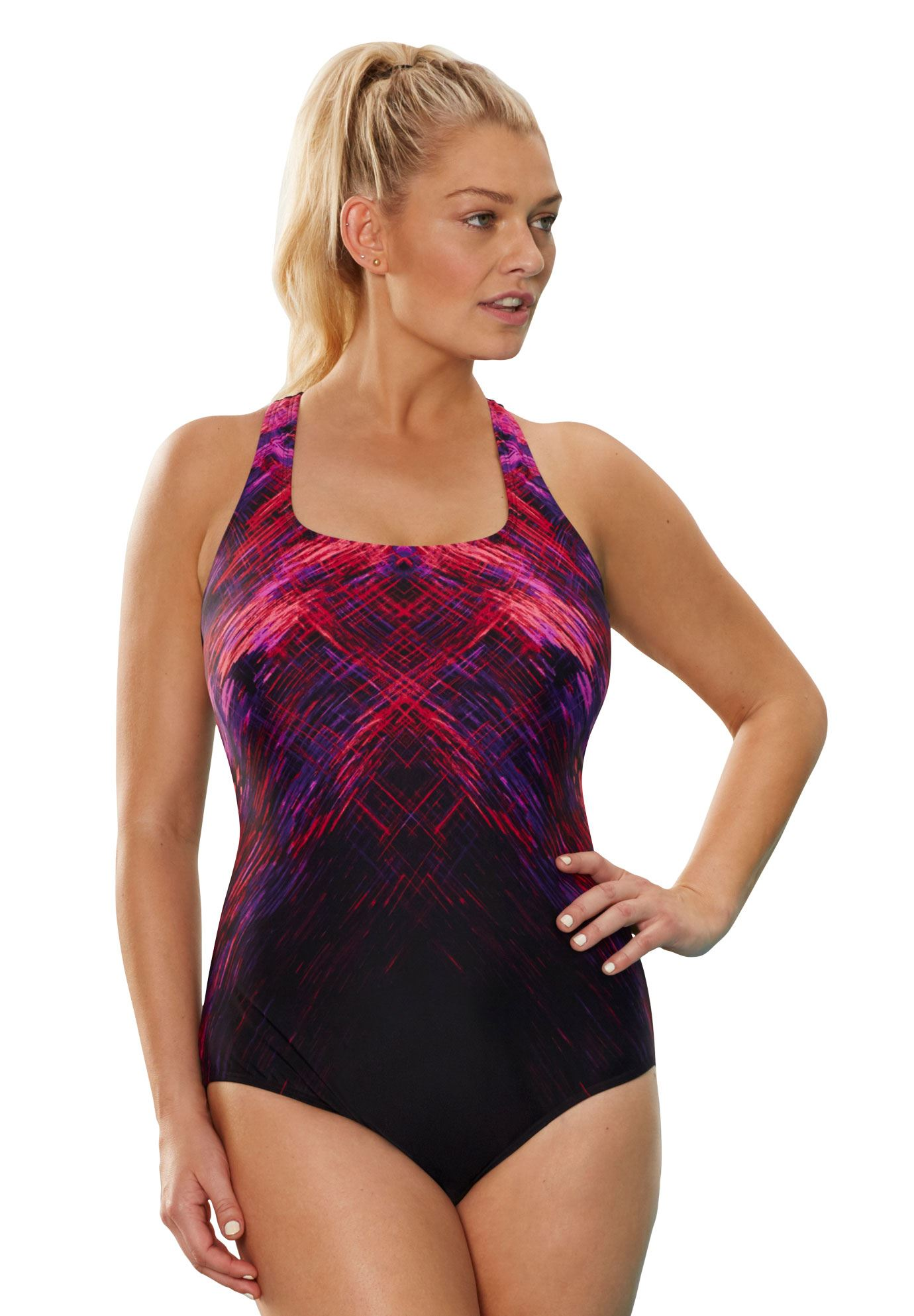 f3aefc8c6e Cross-Back Maillot Swimsuit