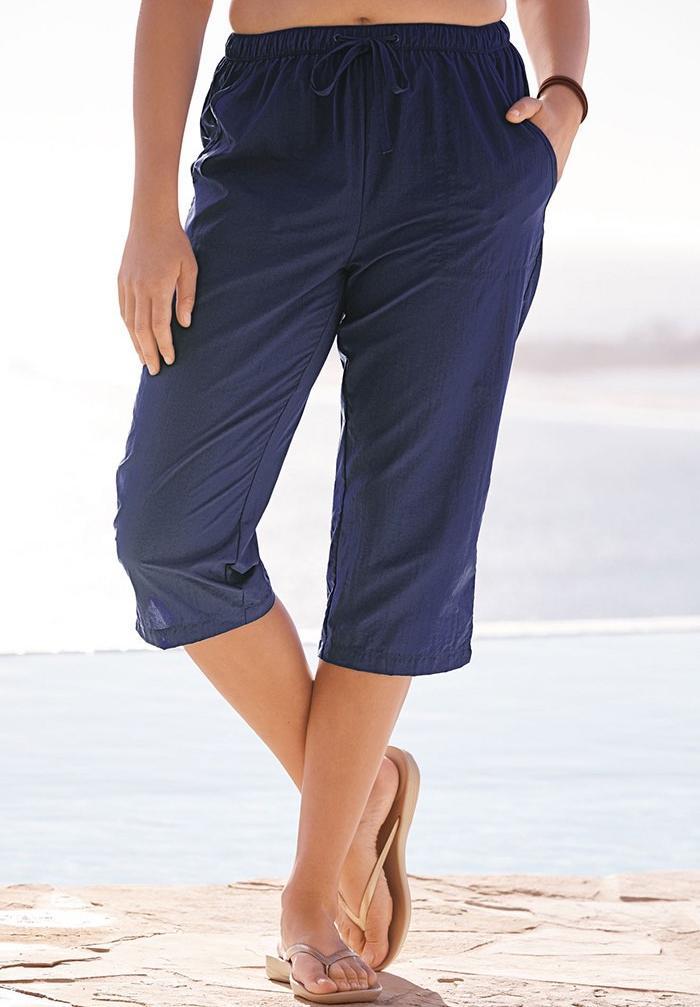 795e3f12cb Taslon® Capri Pants| Plus Size Swim Bottoms | Full Beauty