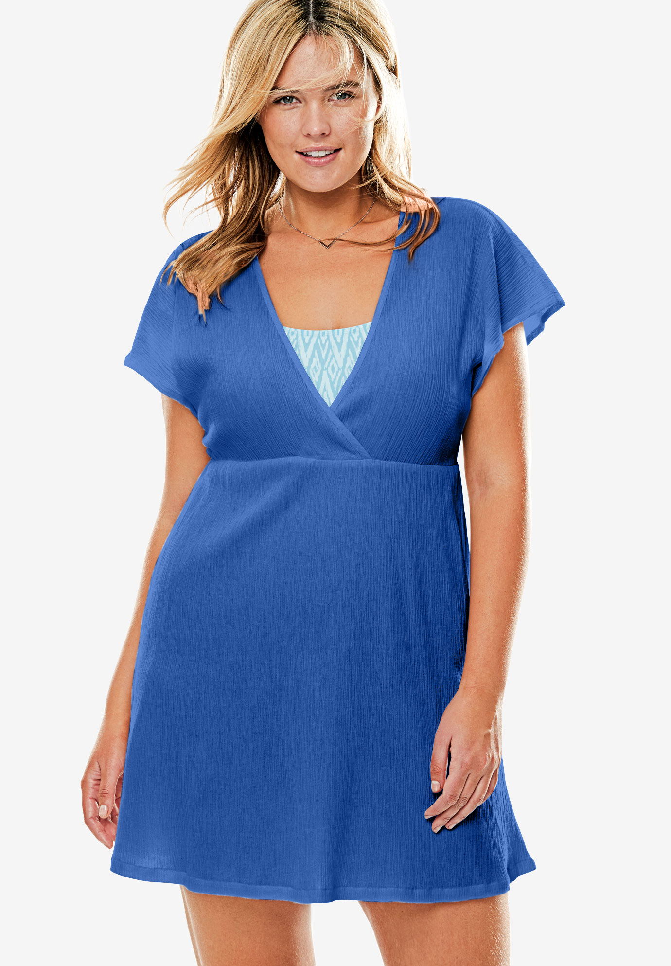 Dolman Sleeve Swim Coverup,